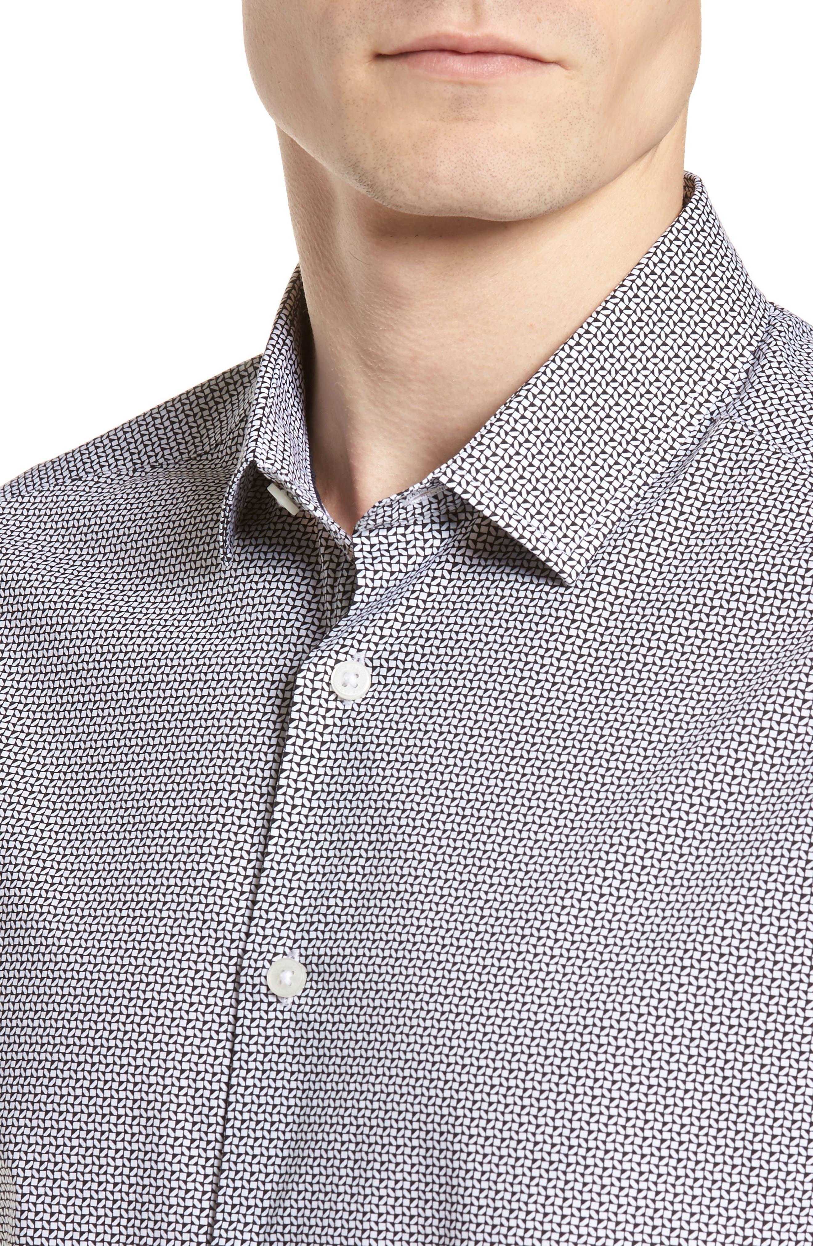 Alternate Image 4  - Vince Camuto Slim Fit Geo Print Sport Shirt