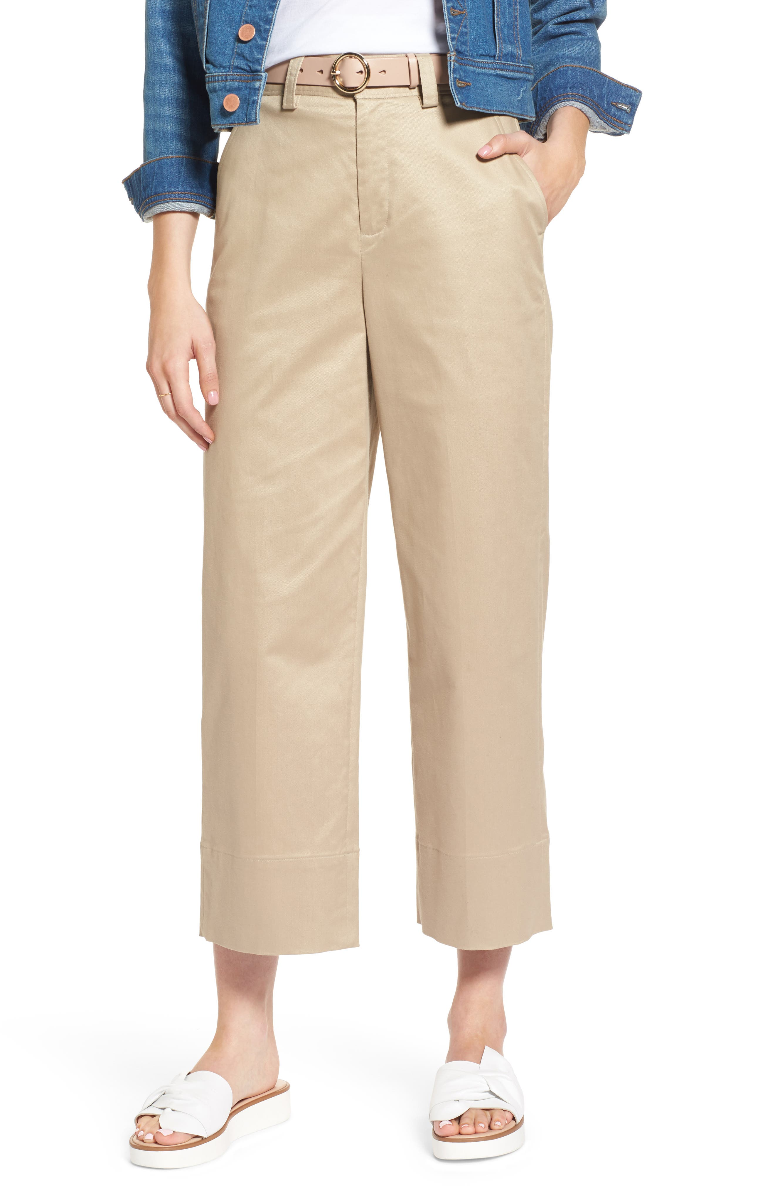 1901 High Waist Crop Wide Leg Pants (Regular & Petite)