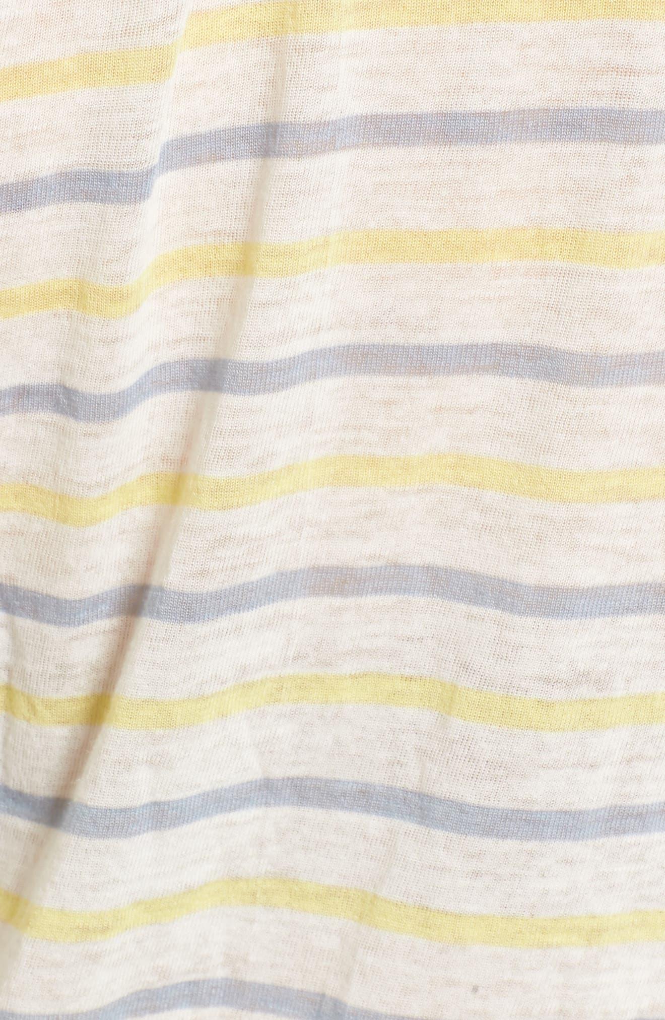 Stripe Baby Tee,                             Alternate thumbnail 5, color,                             Blue Omphalodes Jordan Stripe