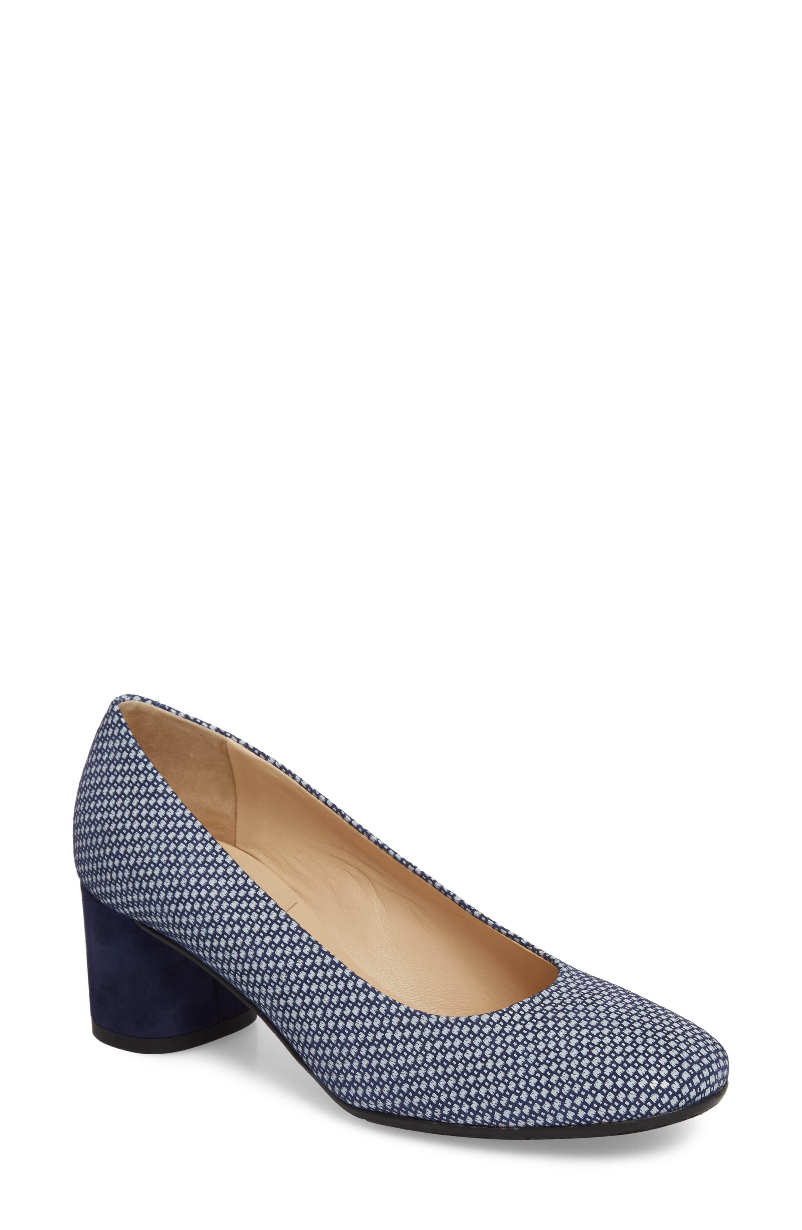 Rosso Pump,                         Main,                         color, Blue/ White Leather