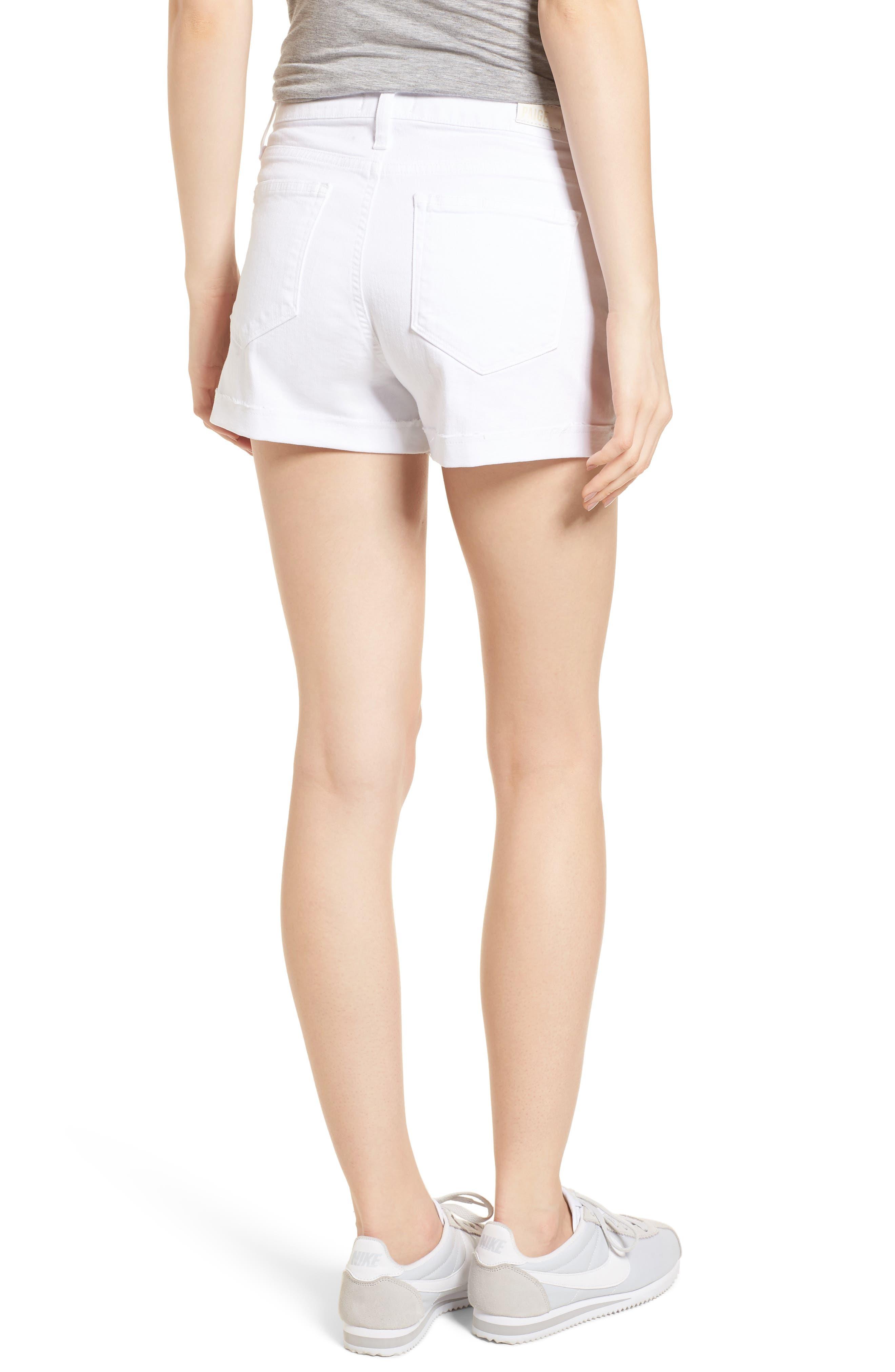 Jimmy Jimmy High Waist Denim Shorts,                             Alternate thumbnail 2, color,                             Crisp White
