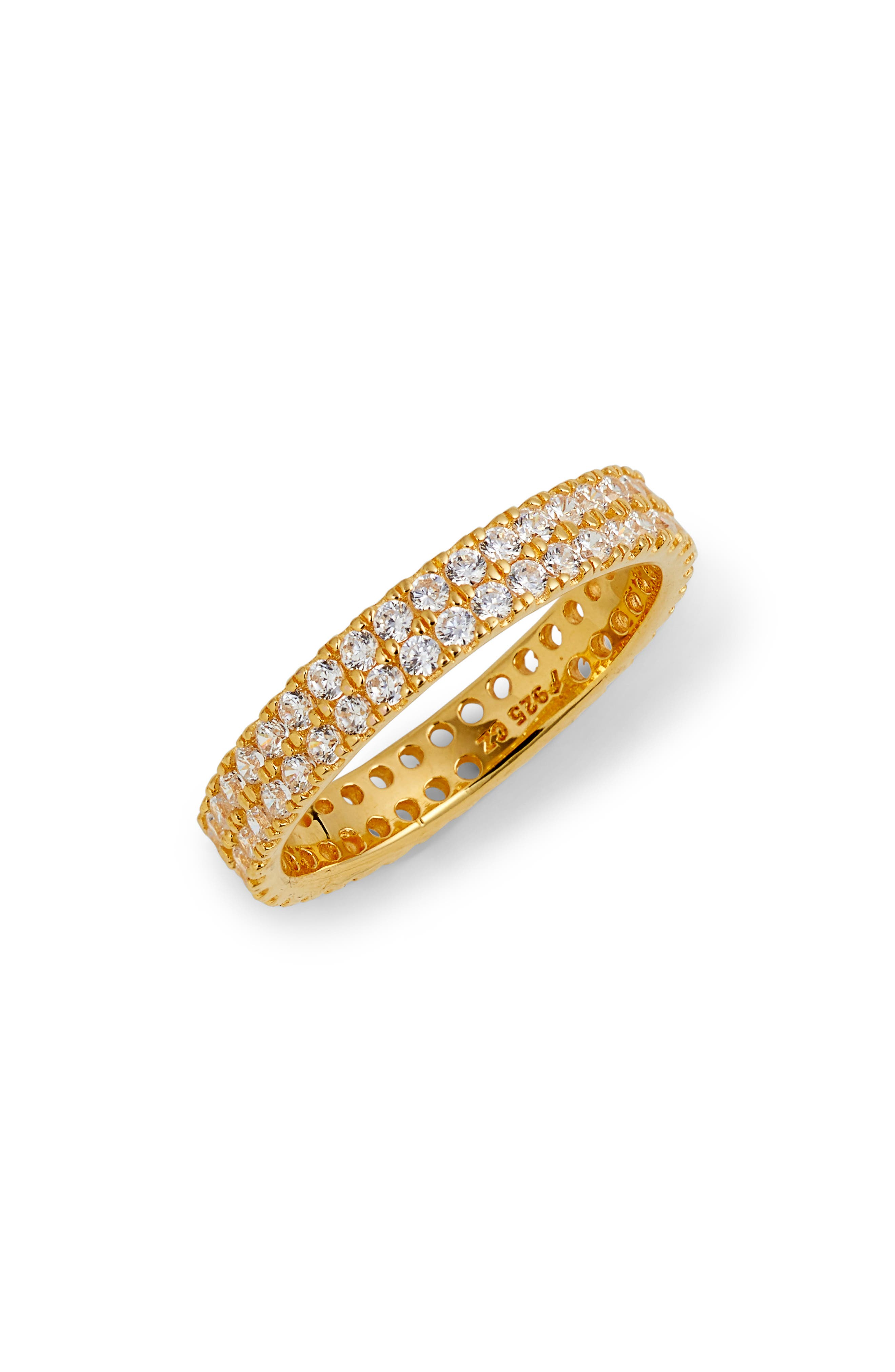 Double Eternity Band Ring,                         Main,                         color, Gold