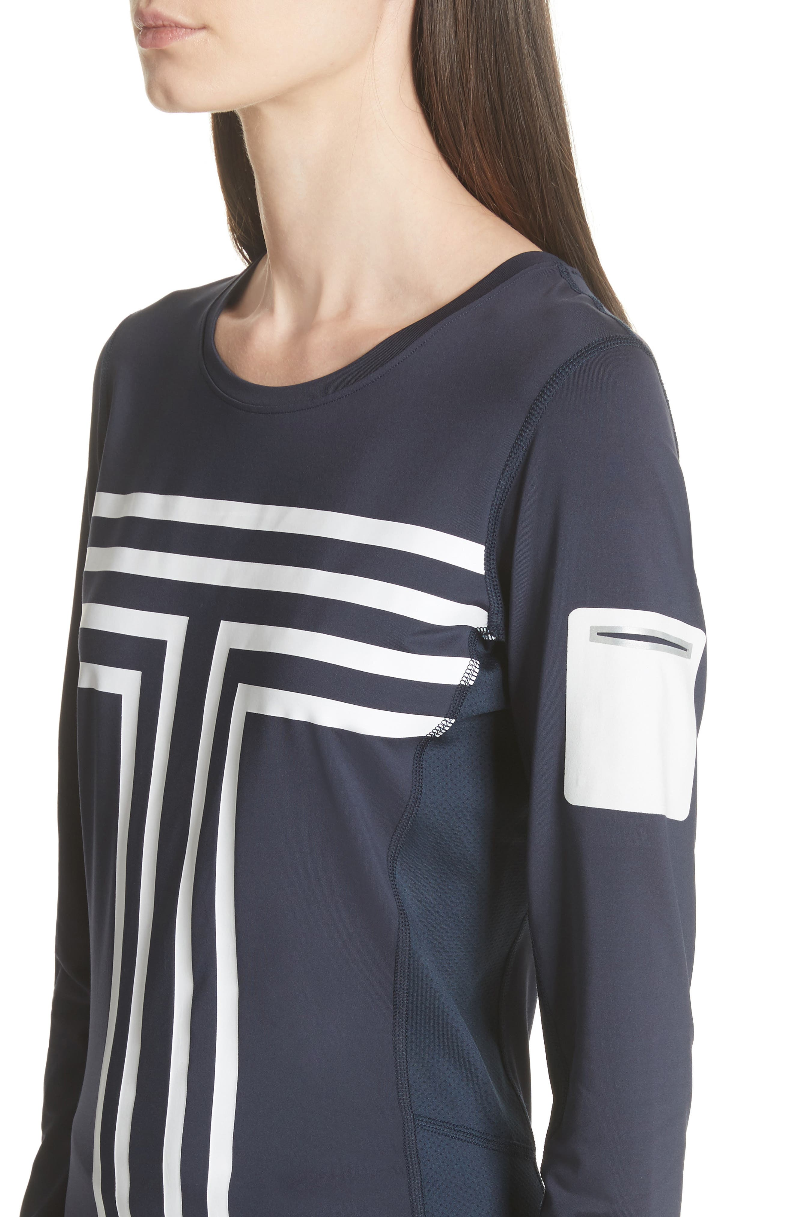 Graphic Performance Top,                             Alternate thumbnail 4, color,                             Tory Navy