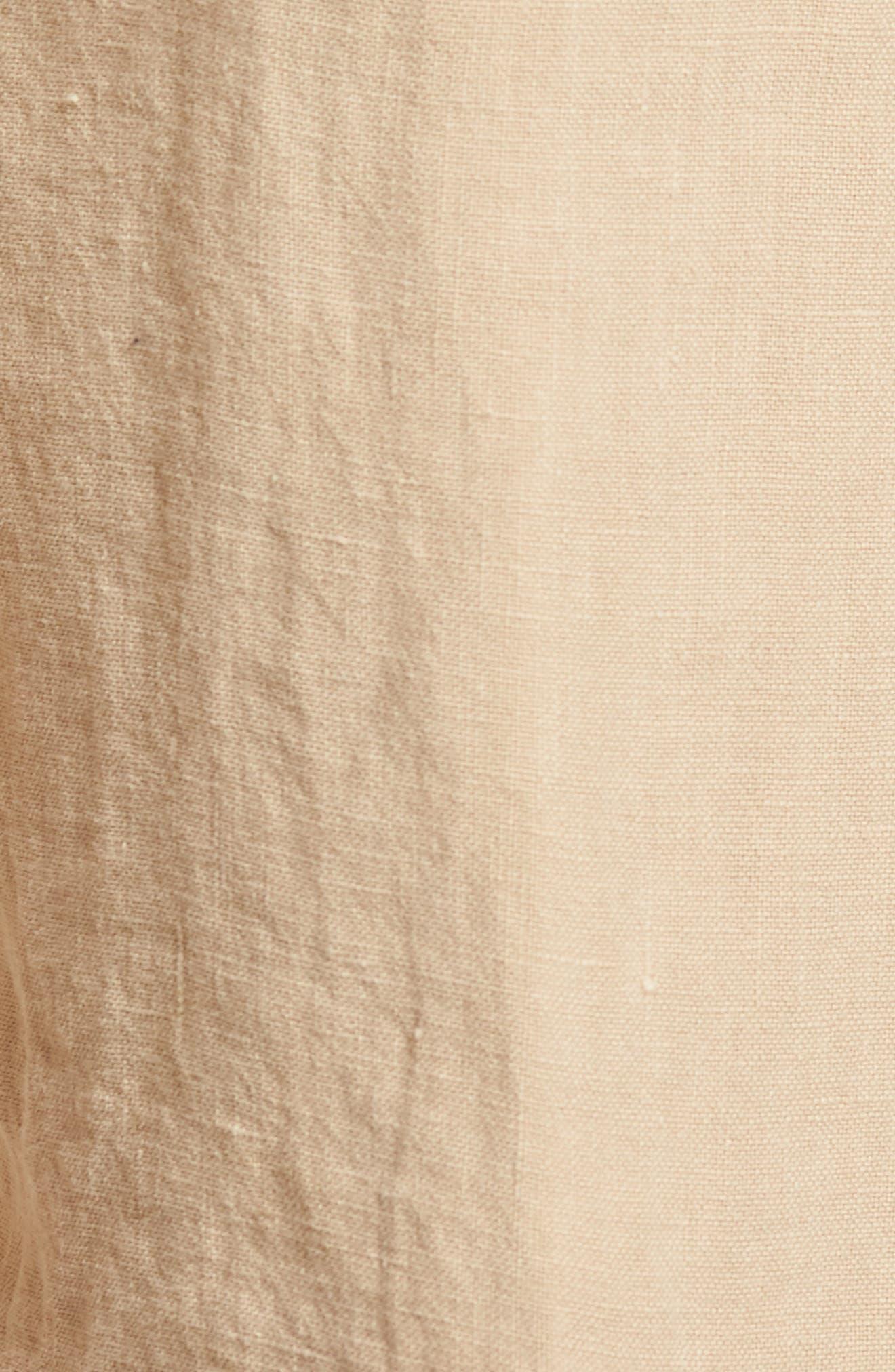 & Bros. Linen Shorts,                             Alternate thumbnail 5, color,                             Desert Dust