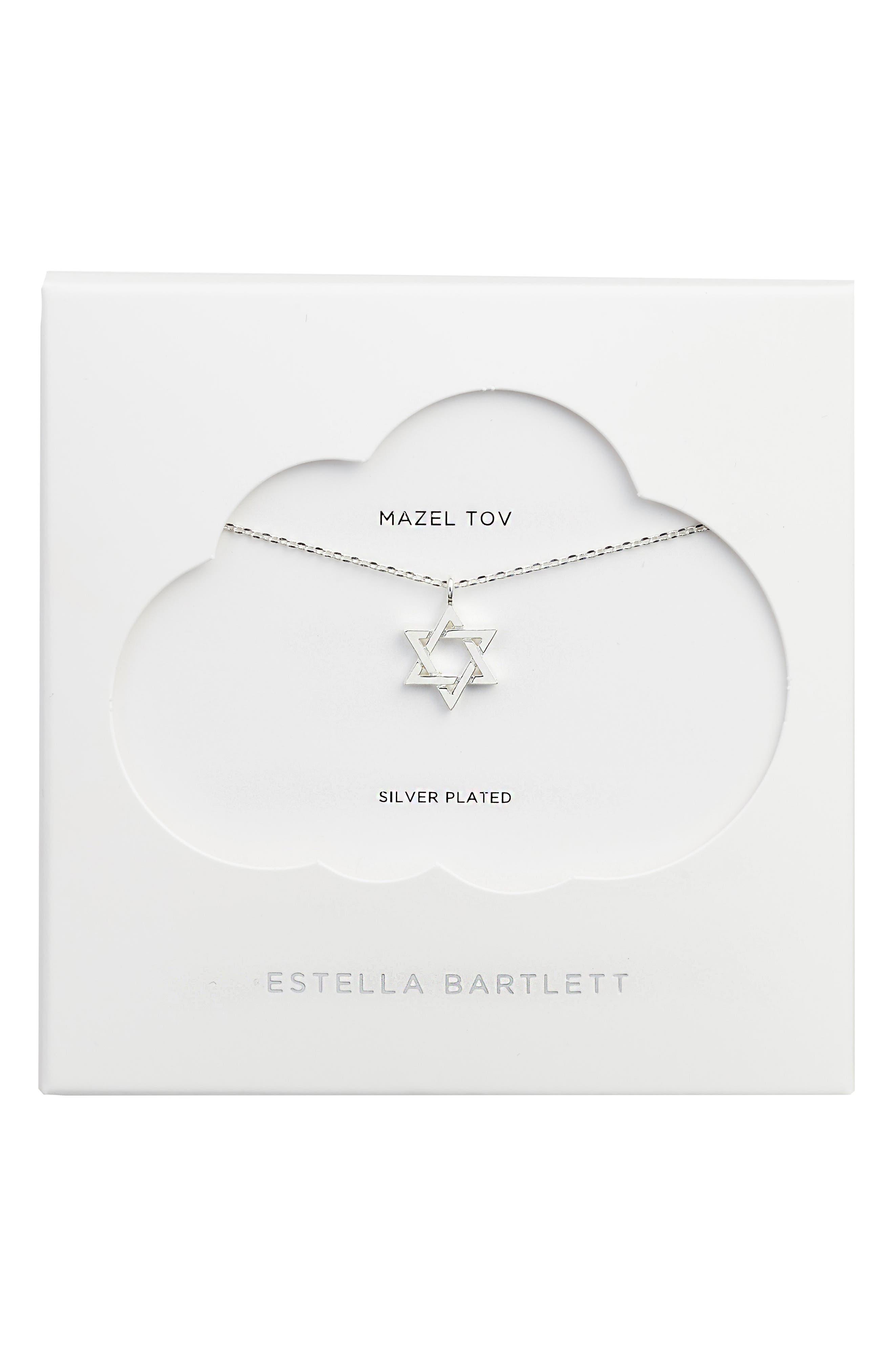 Star of David Necklace,                         Main,                         color, Silver