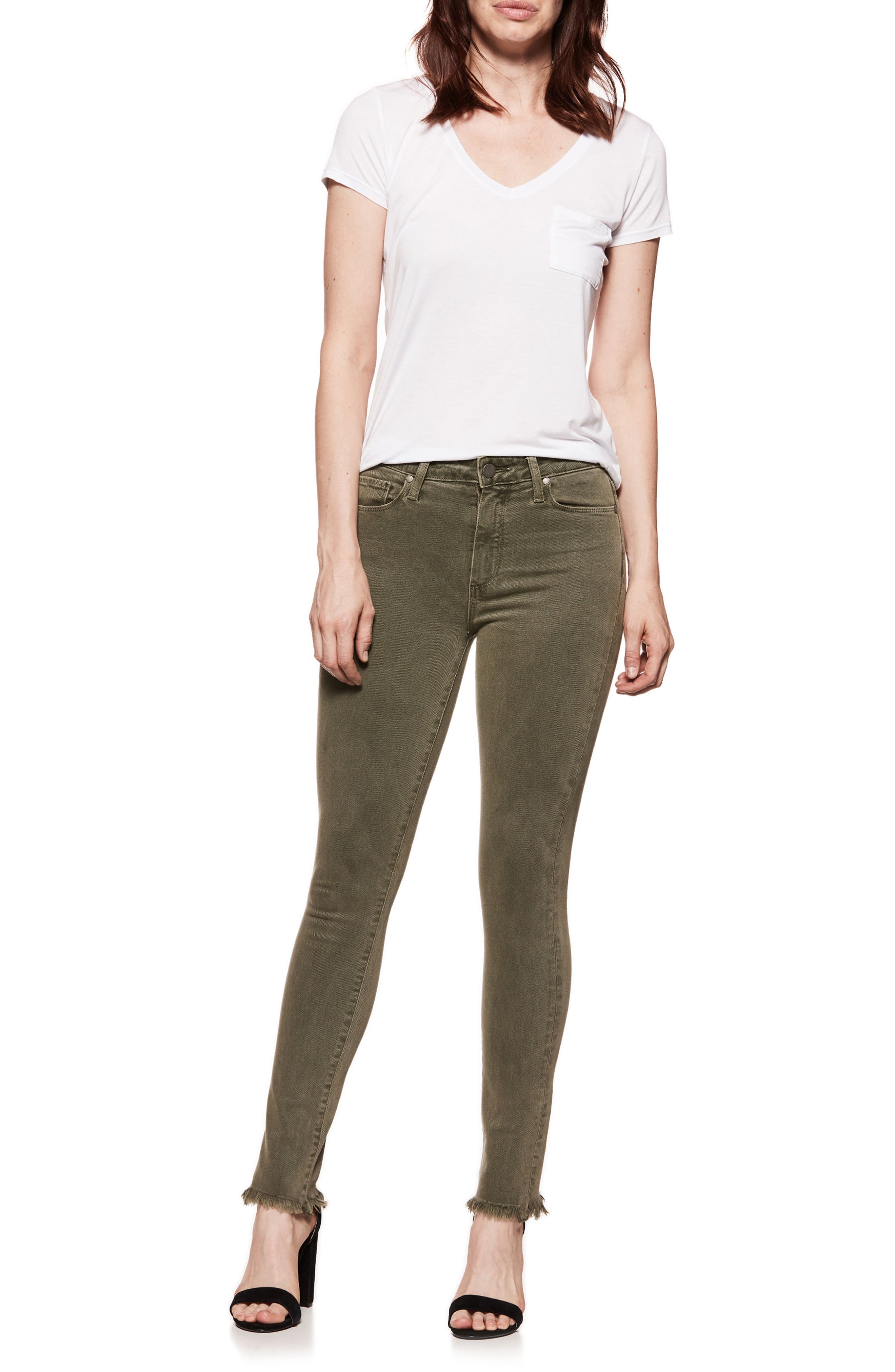 Hoxton High Waist Ankle Skinny Jeans,                             Alternate thumbnail 2, color,                             Vintage Green