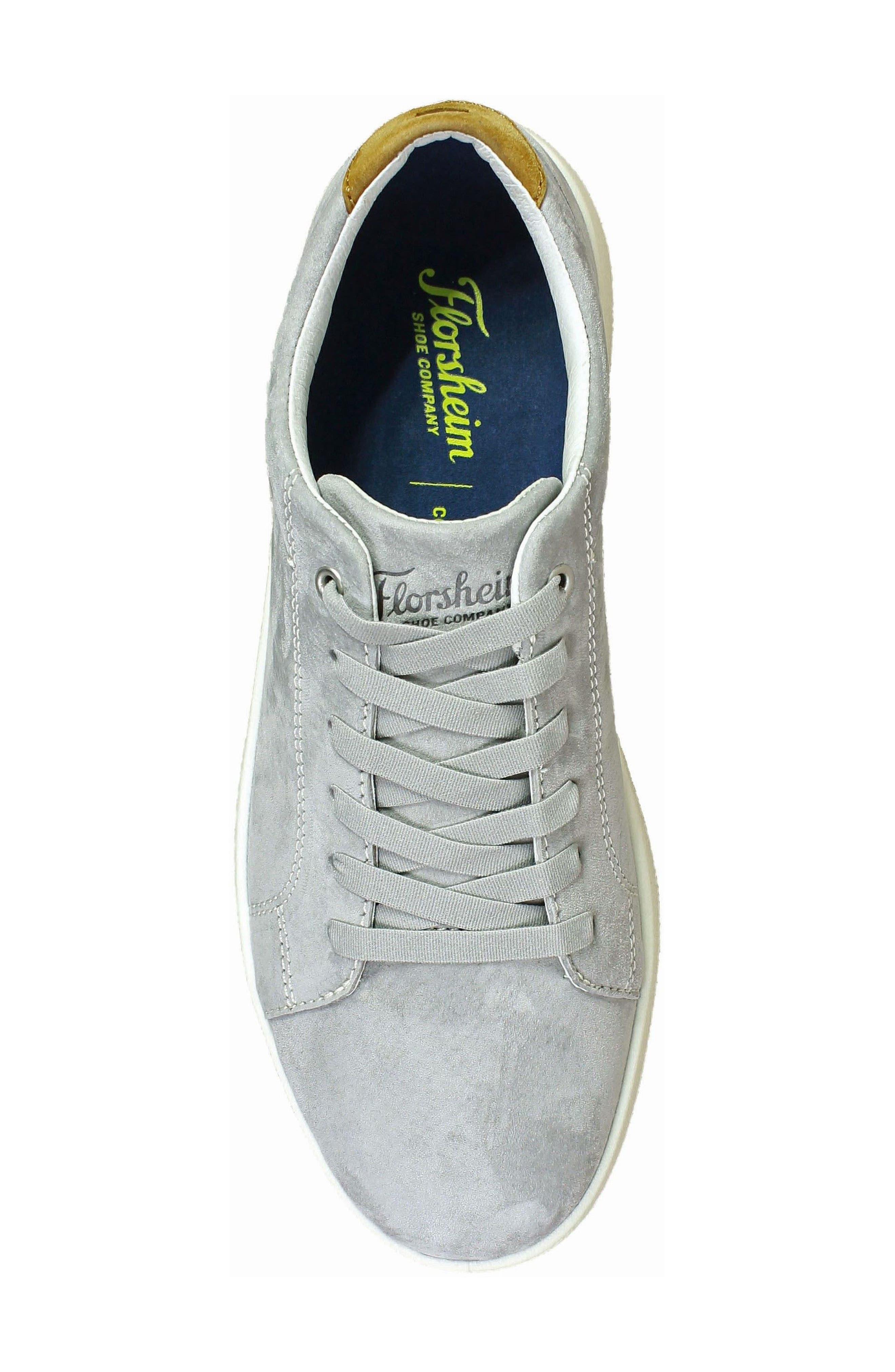 Edge Low Top Sneaker,                             Alternate thumbnail 5, color,                             Gray Nubuck