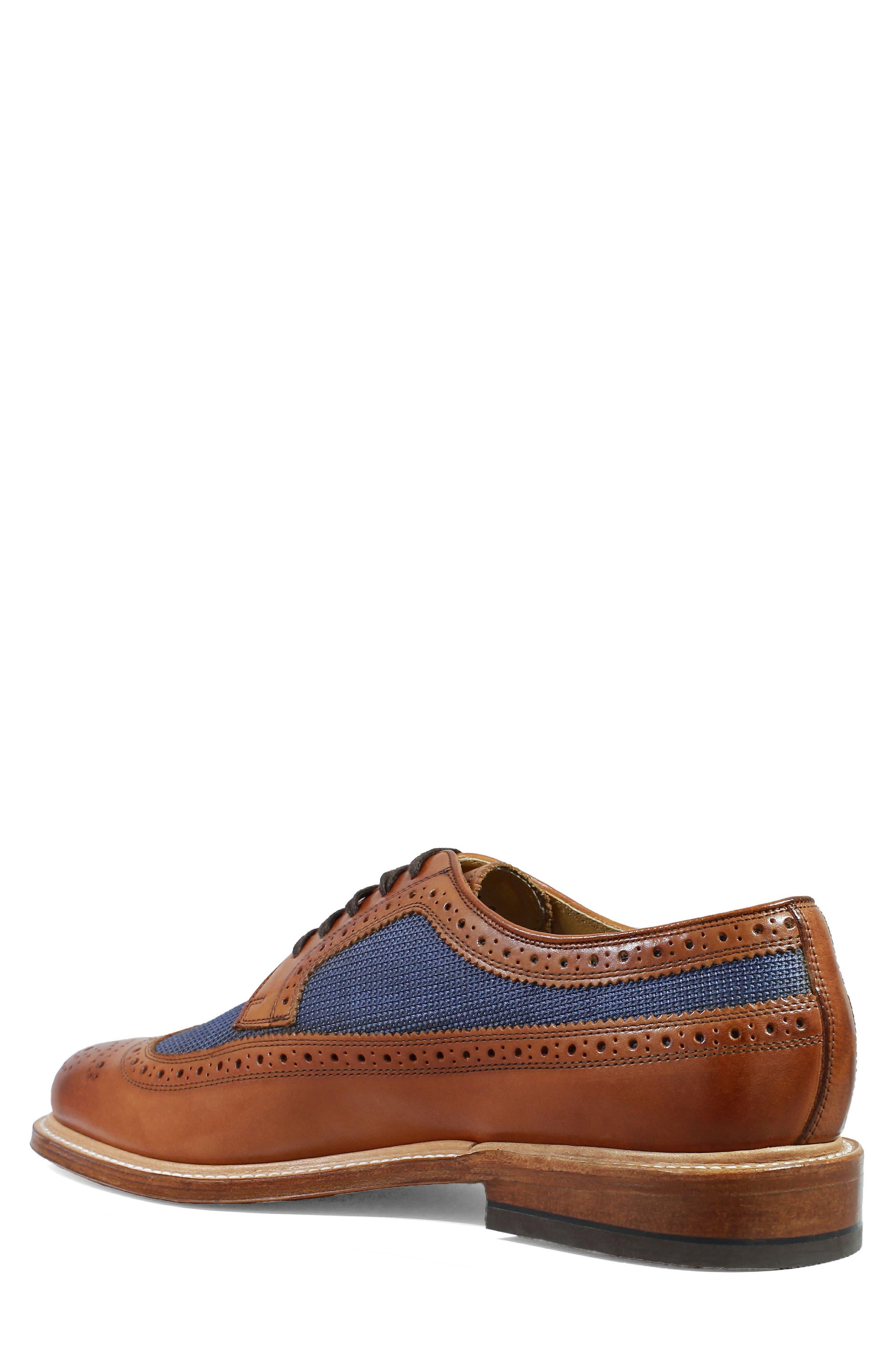 'Heritage' Wingtip,                             Alternate thumbnail 2, color,                             Cognac Leather/ Mesh