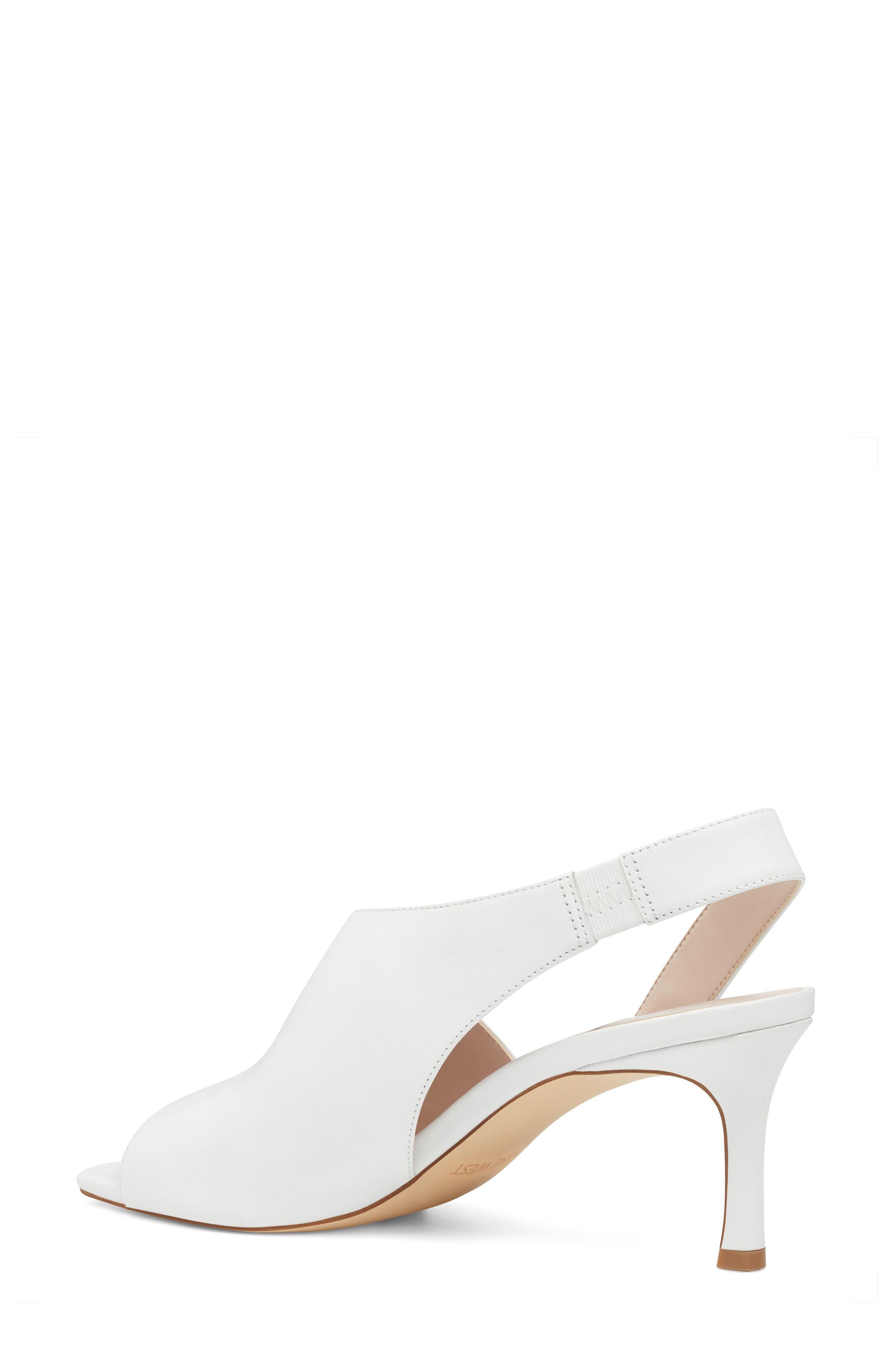 Orrus Asymmetrical Sandal,                             Alternate thumbnail 2, color,                             White Leather