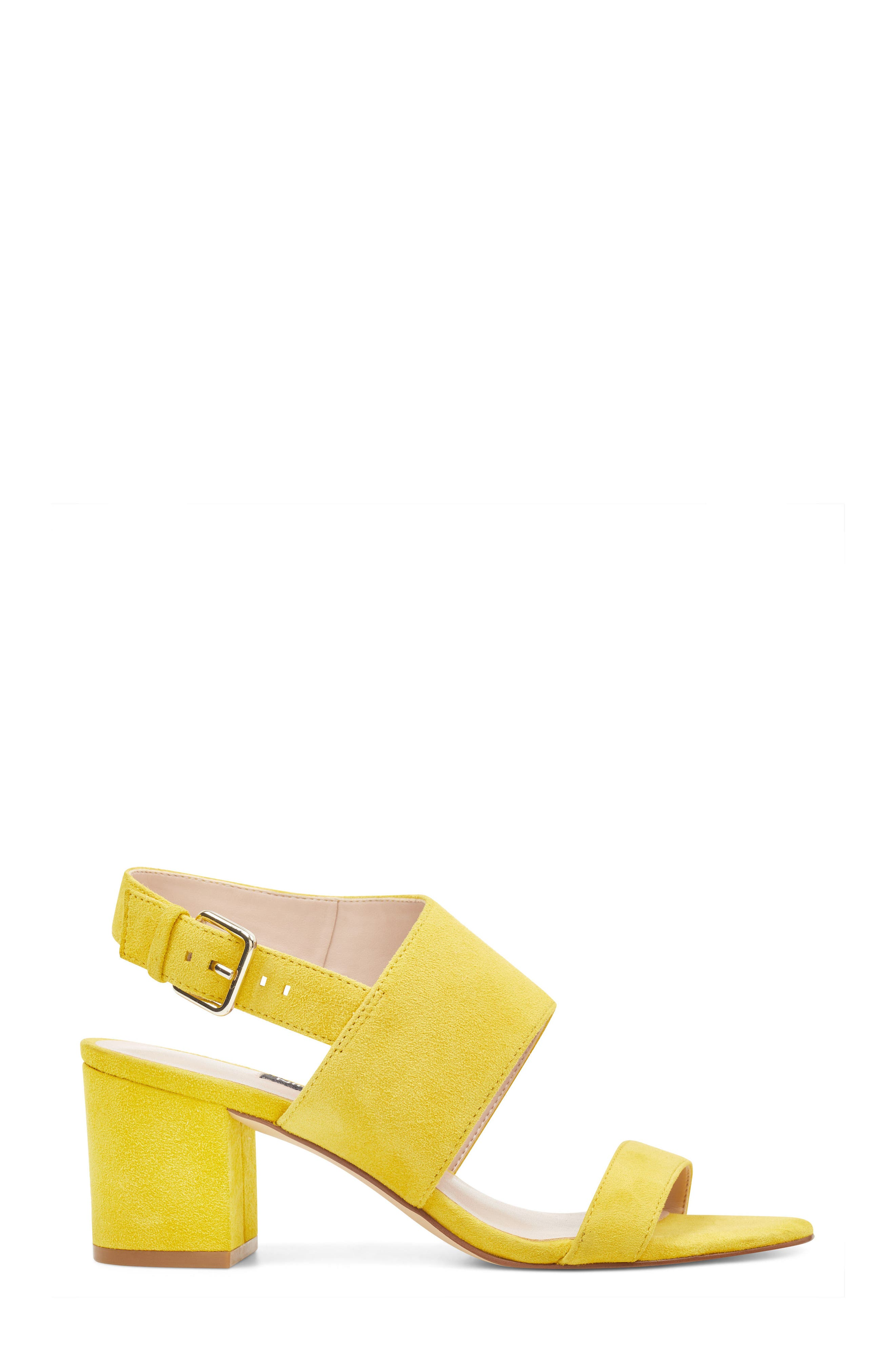 Forli Asymmetrical Sandal,                             Alternate thumbnail 3, color,                             Yellow Suede