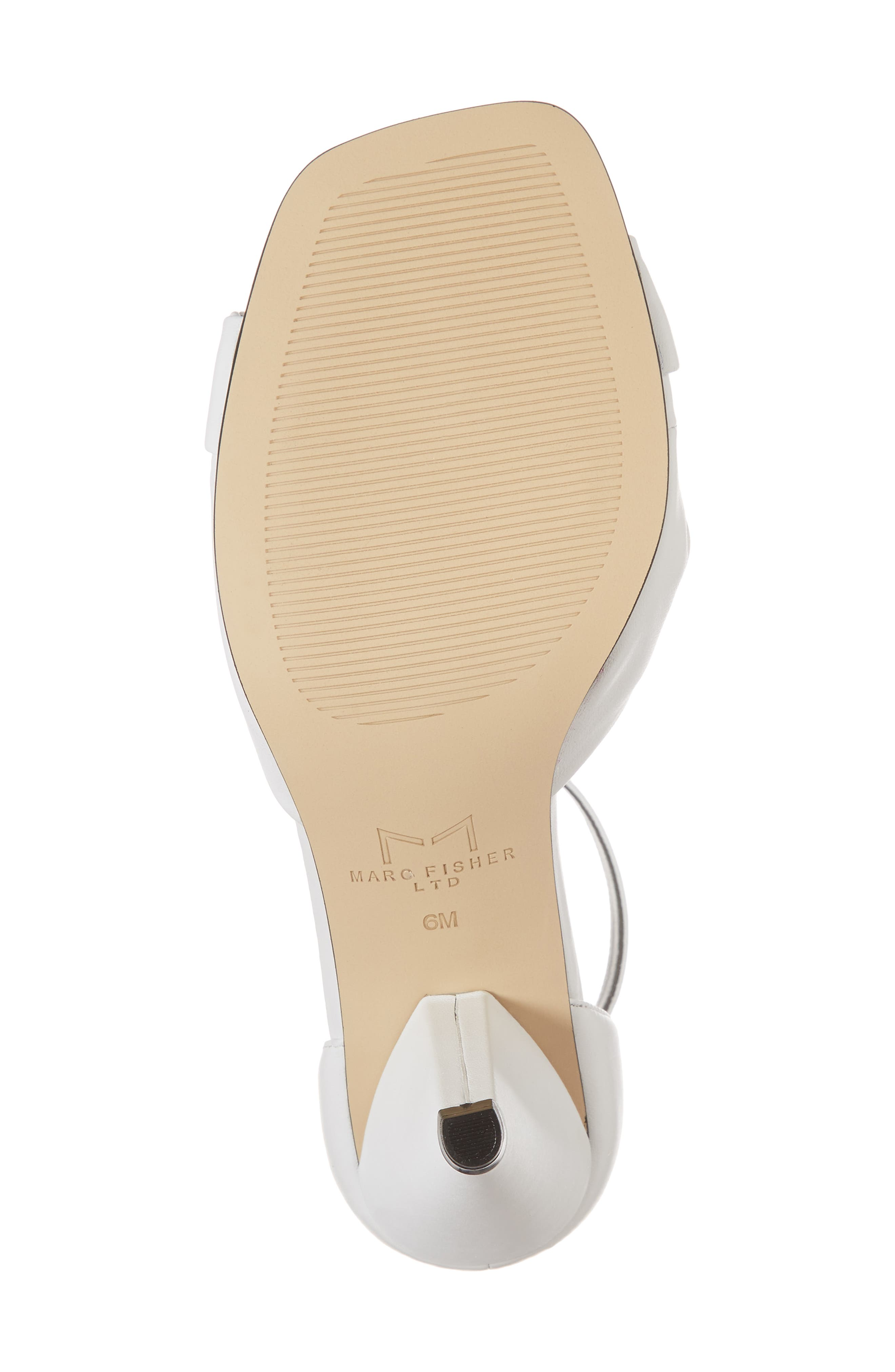 Ivory Sandal,                             Alternate thumbnail 6, color,                             White Leather