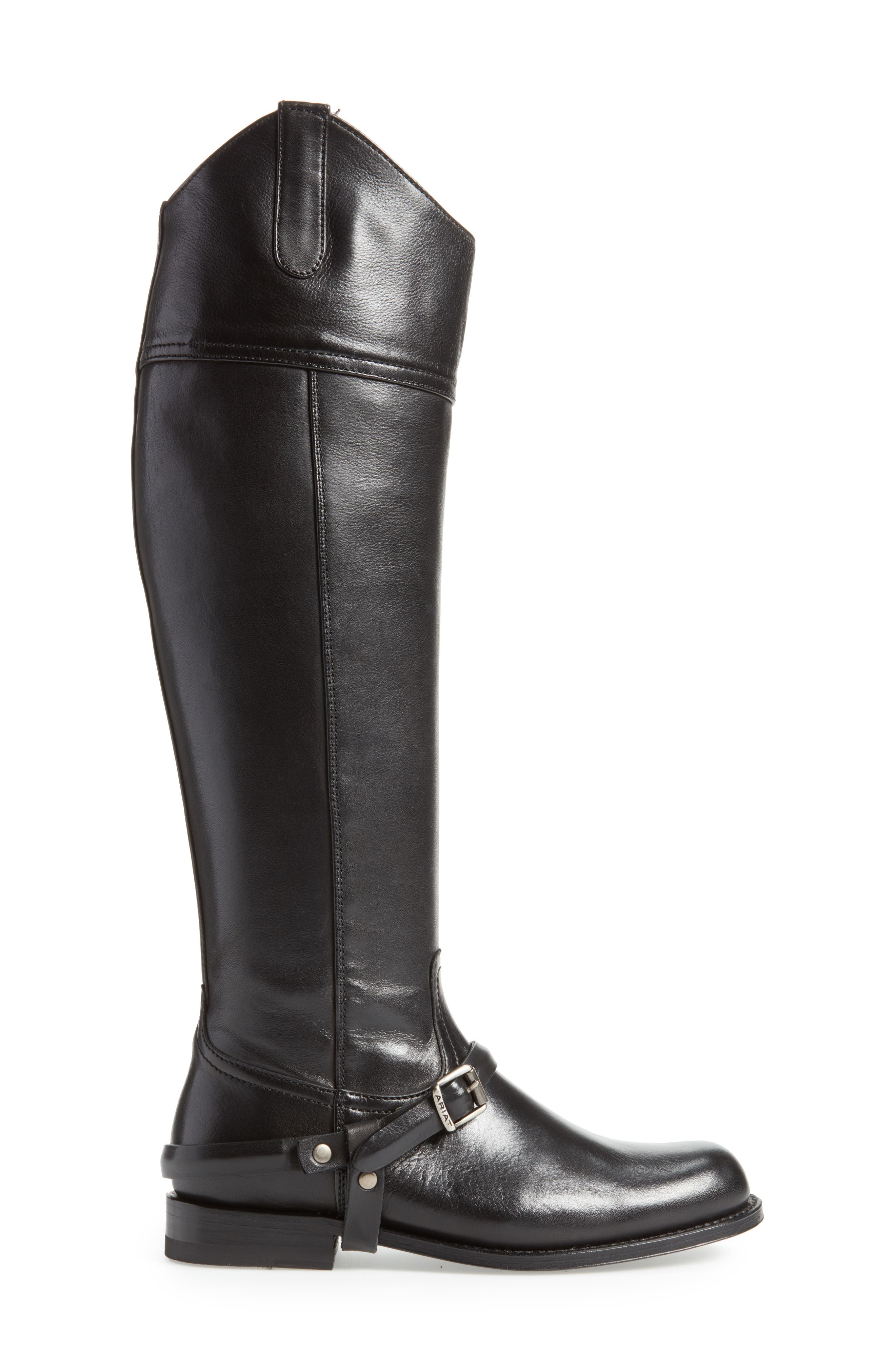 Pamplona Knee High Boot,                             Alternate thumbnail 3, color,                             Black Leather