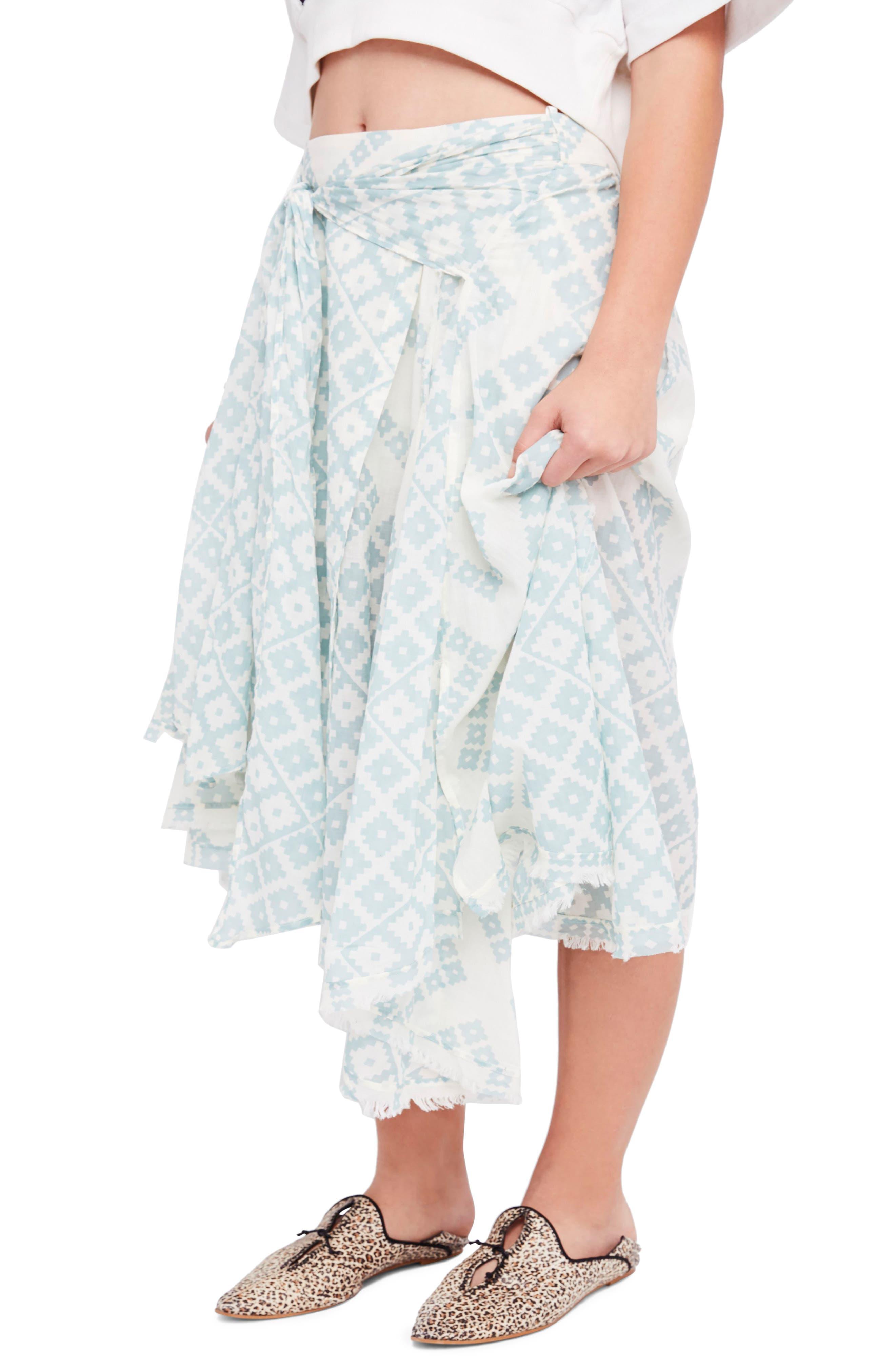 Free People Luna Light Midi Skirt