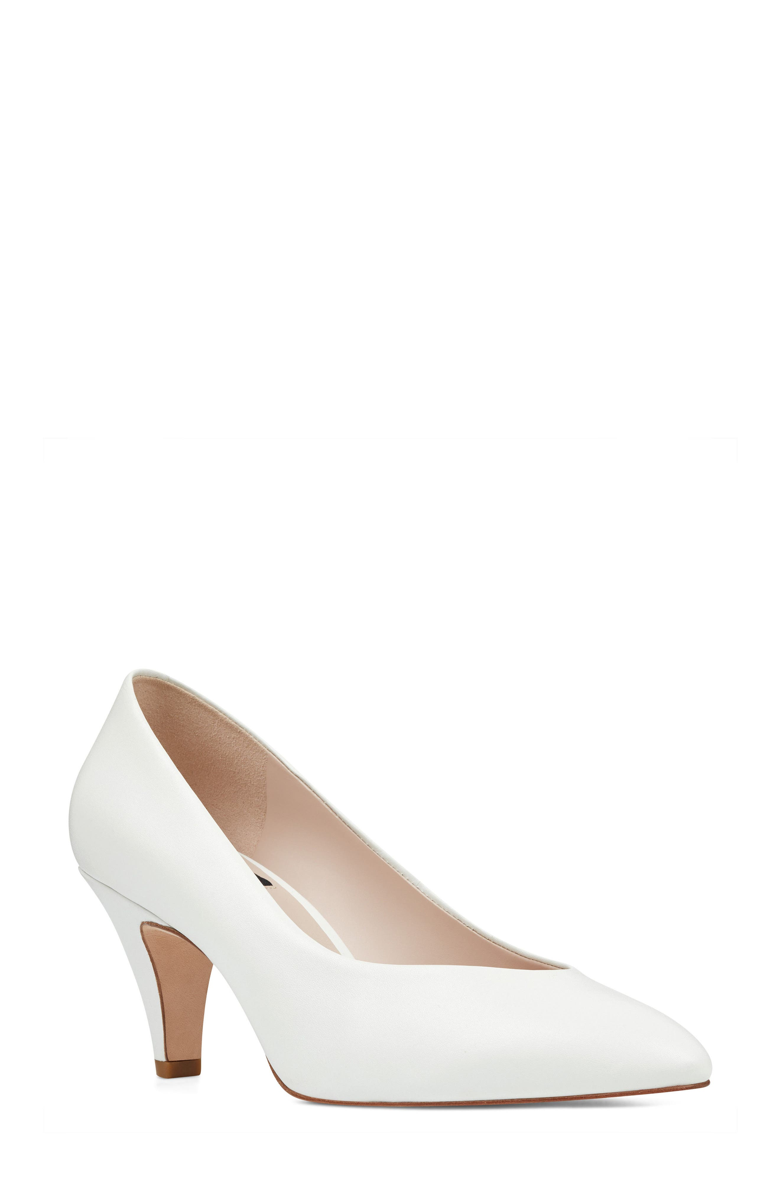 Faith - 40th Anniversary Capsule Collection Pump,                             Main thumbnail 1, color,                             White Leather