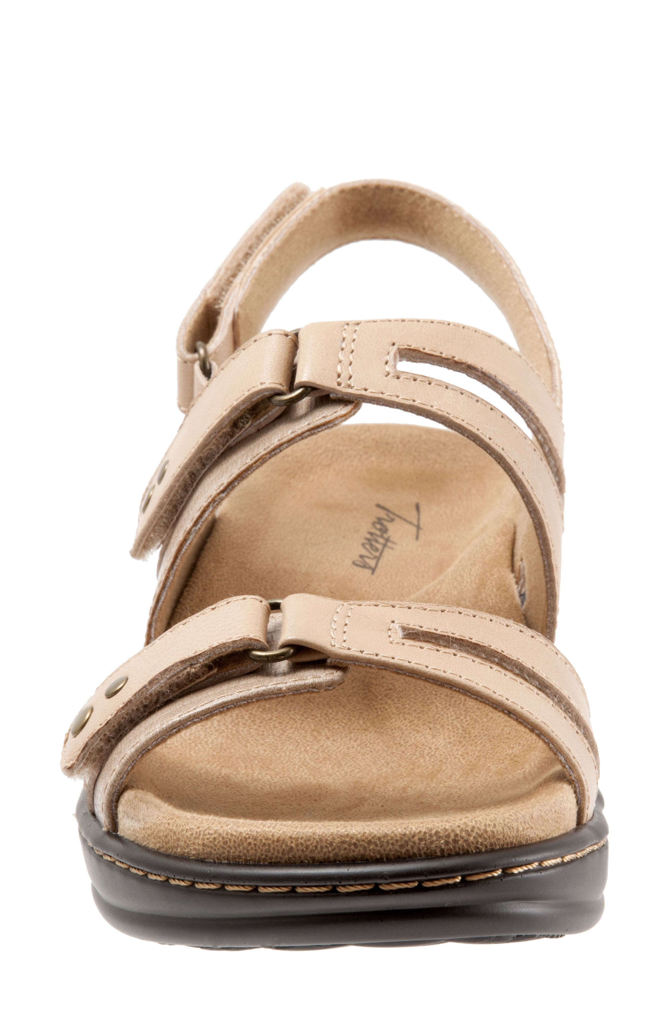 Newton Sandal,                             Alternate thumbnail 4, color,                             Beige/ Off White Leather