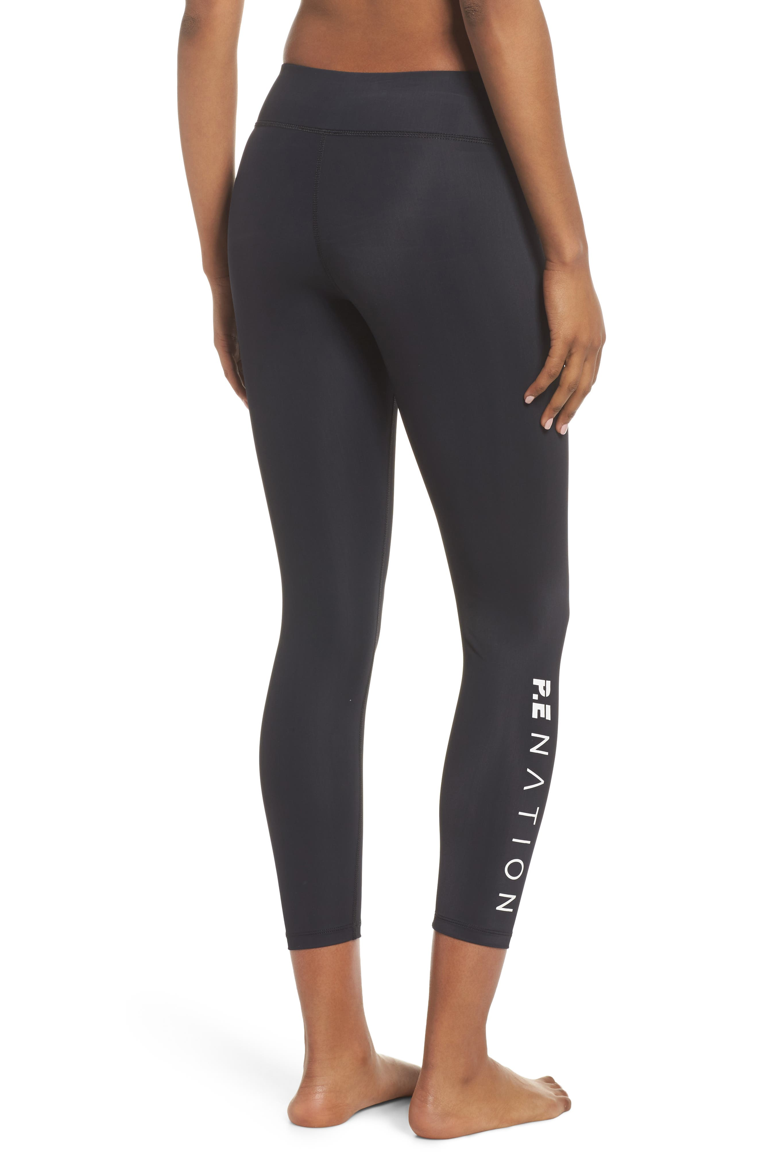 The Contender Leggings,                             Alternate thumbnail 2, color,                             Black