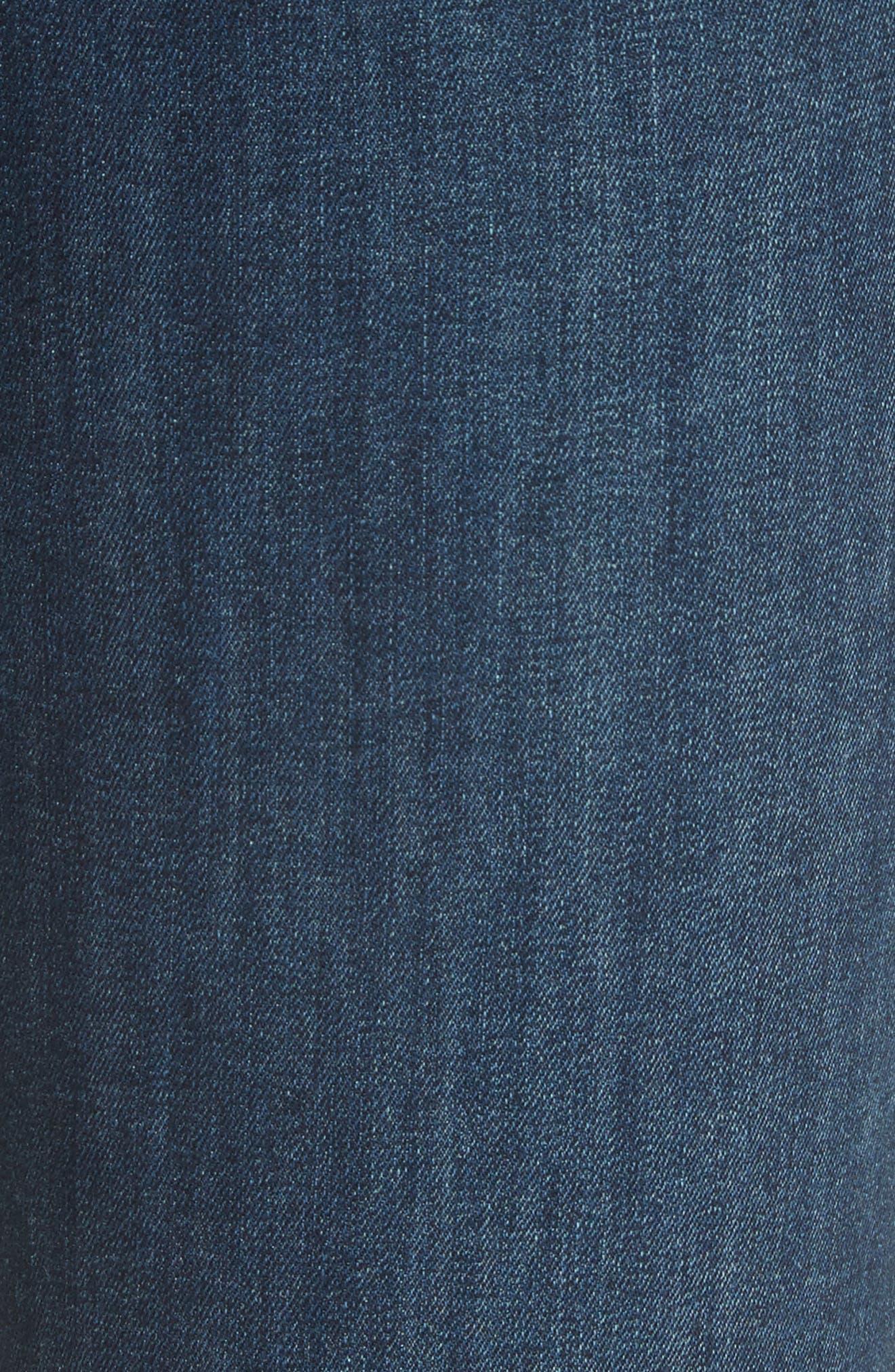 High Waist Ankle Skinny Jeans,                             Alternate thumbnail 6, color,                             Dark Blue
