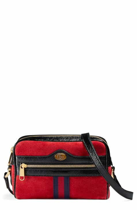 f933ba9f924c8 Gucci Ophidia Small Suede   Leather Crossbody Bag