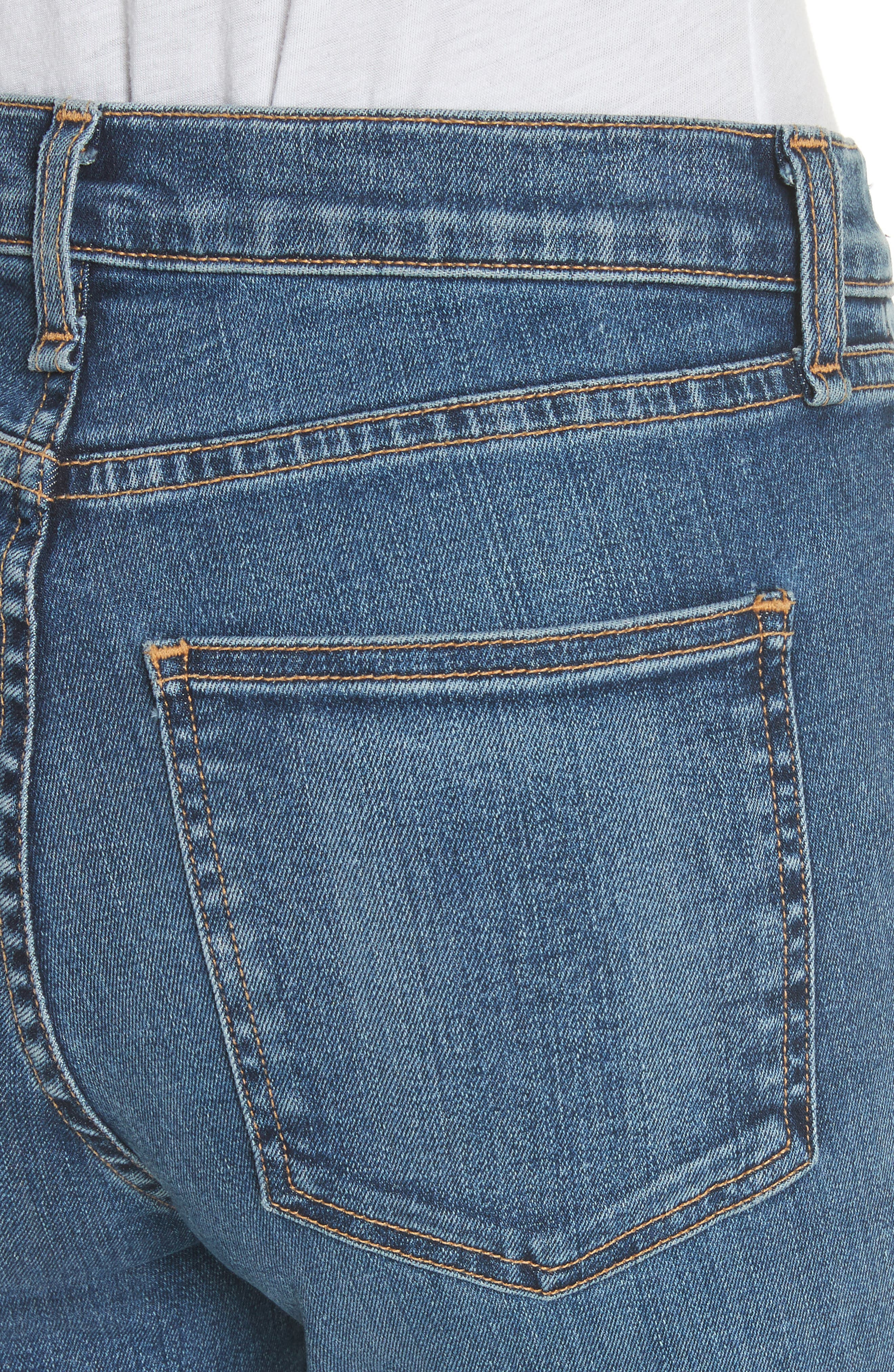 Kate Crop Skinny Jeans,                             Alternate thumbnail 4, color,                             Classic Wash