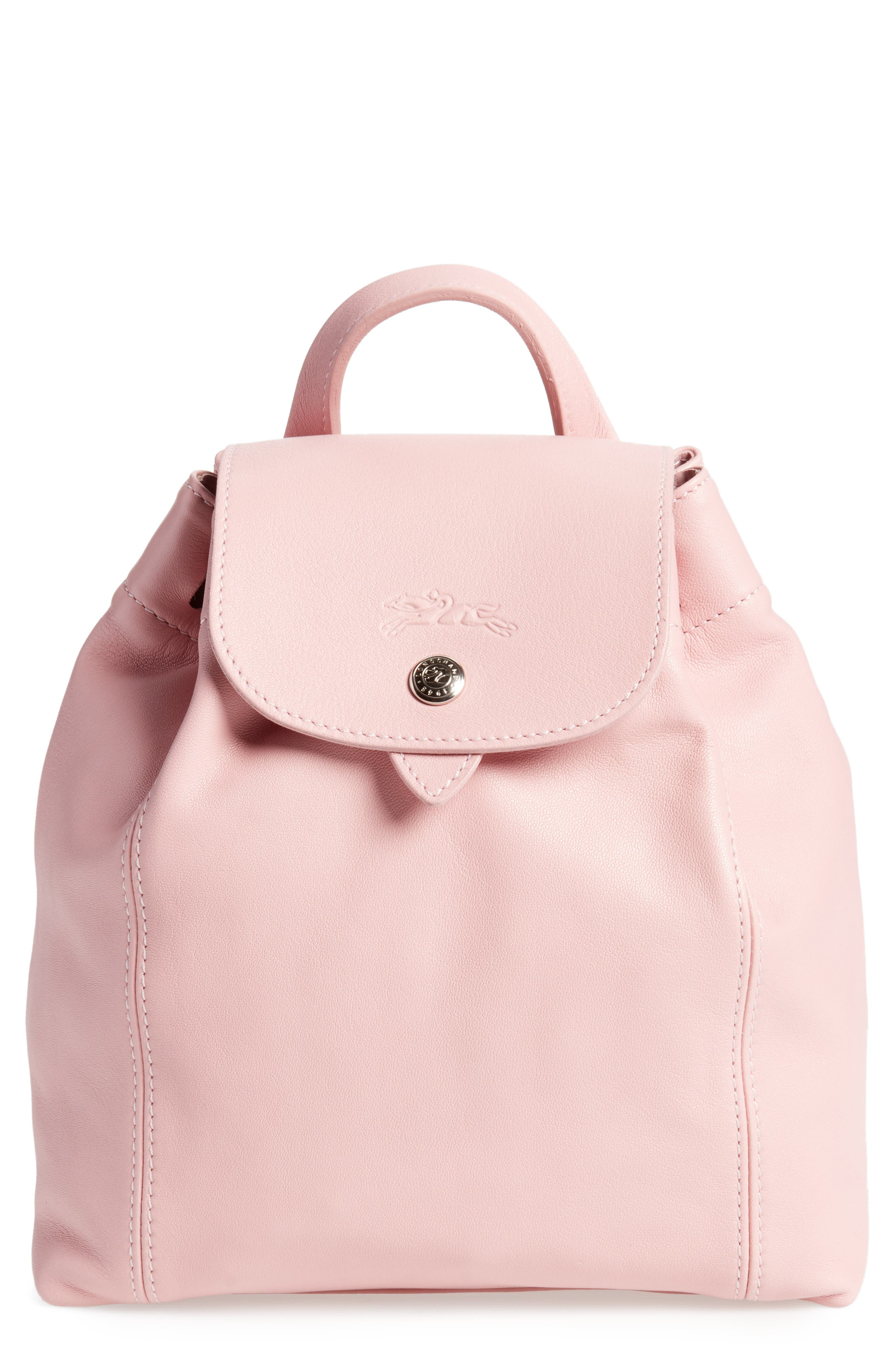 Longchamp Le Pliage Cuir Backpack - Pink In Girl  99a3589f2e5af