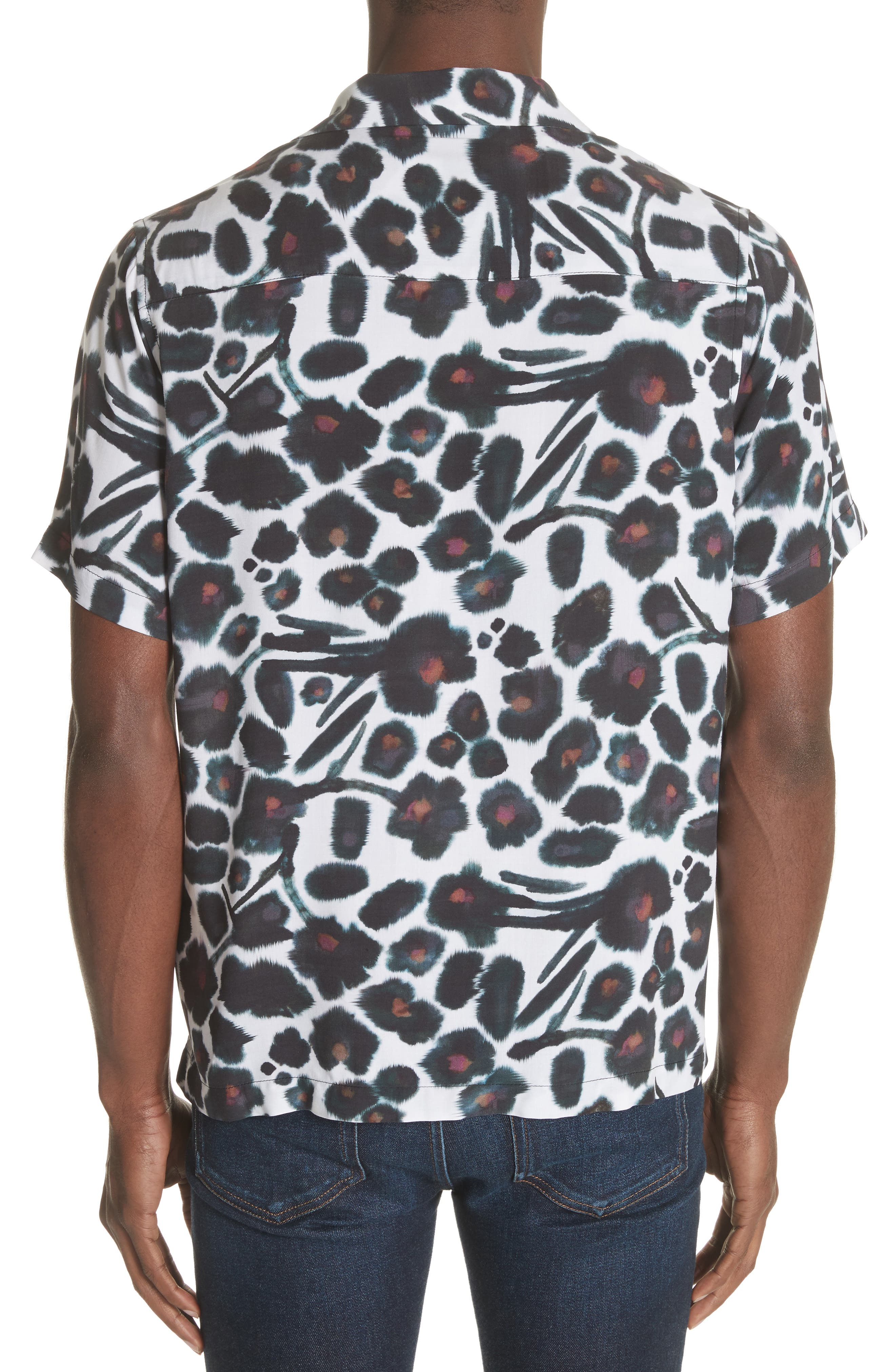 Alternate Image 2  - Saturdays NYC Canty Watercolor Floral Print Camp Shirt