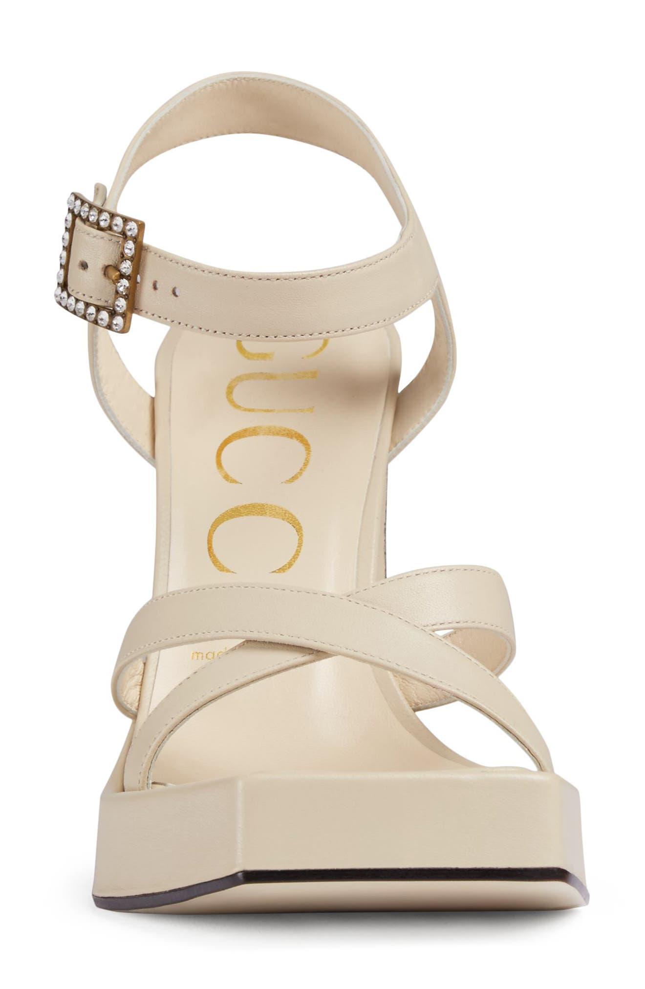 Costanze Platform Sandal,                             Alternate thumbnail 3, color,                             White