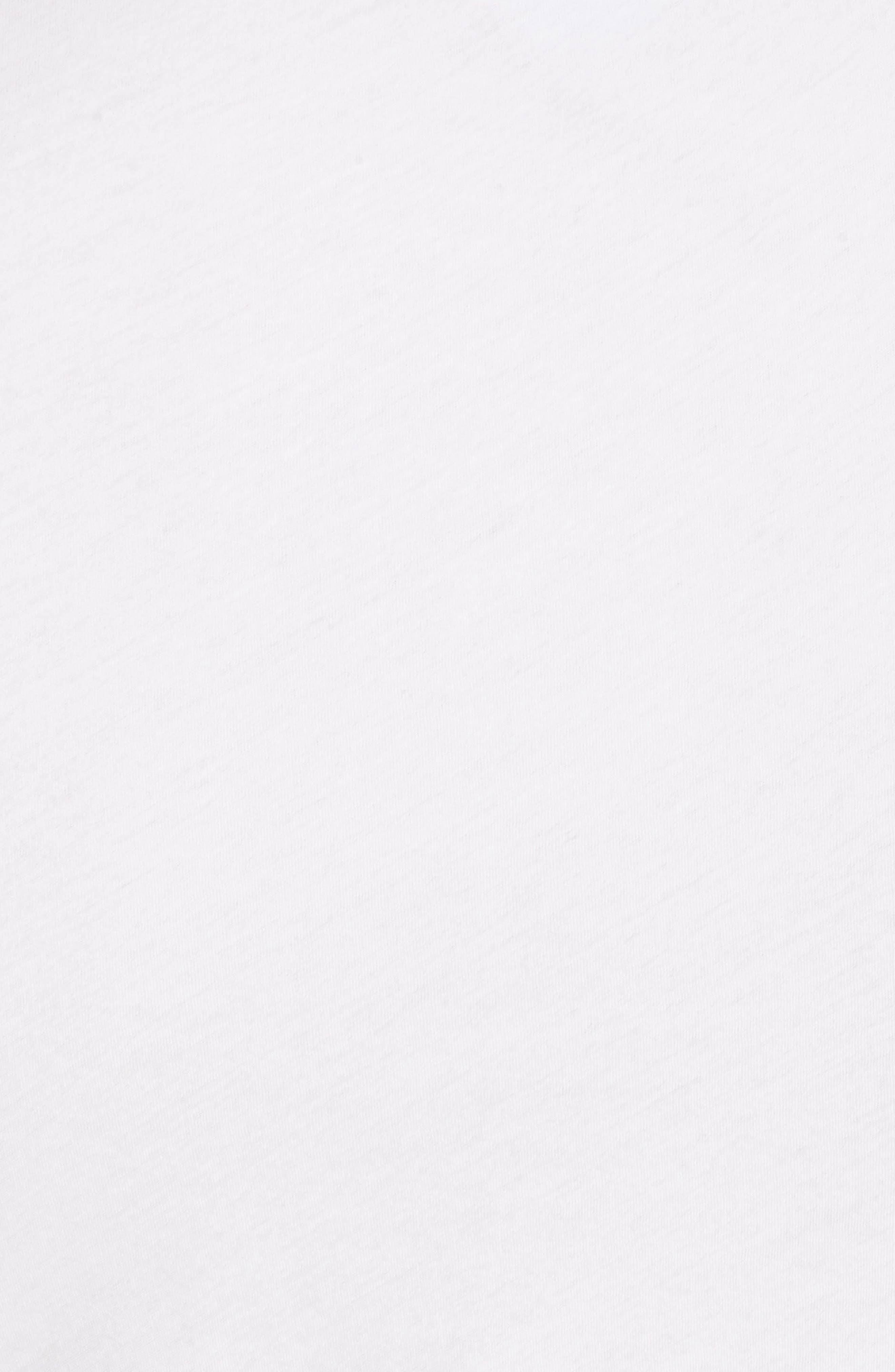 Shirred Midi Dress,                             Alternate thumbnail 5, color,                             White