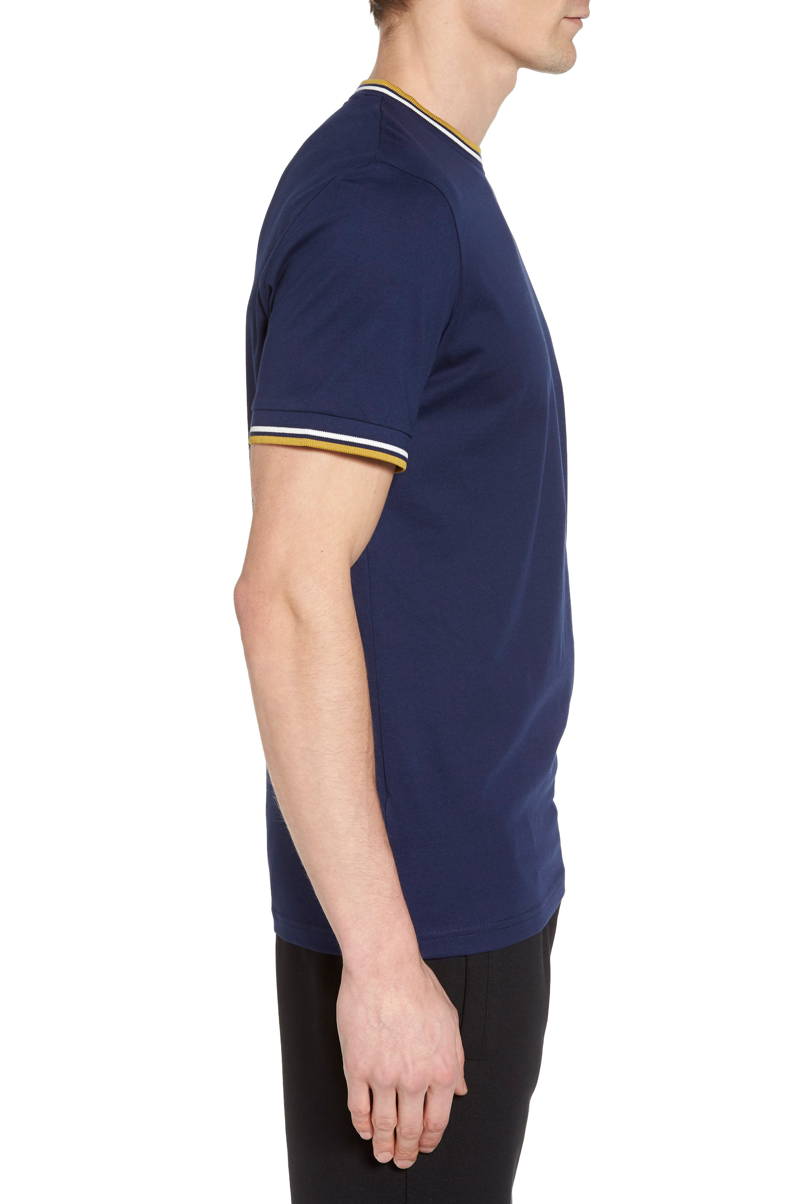 Tipped T-Shirt,                             Alternate thumbnail 3, color,                             French Navy