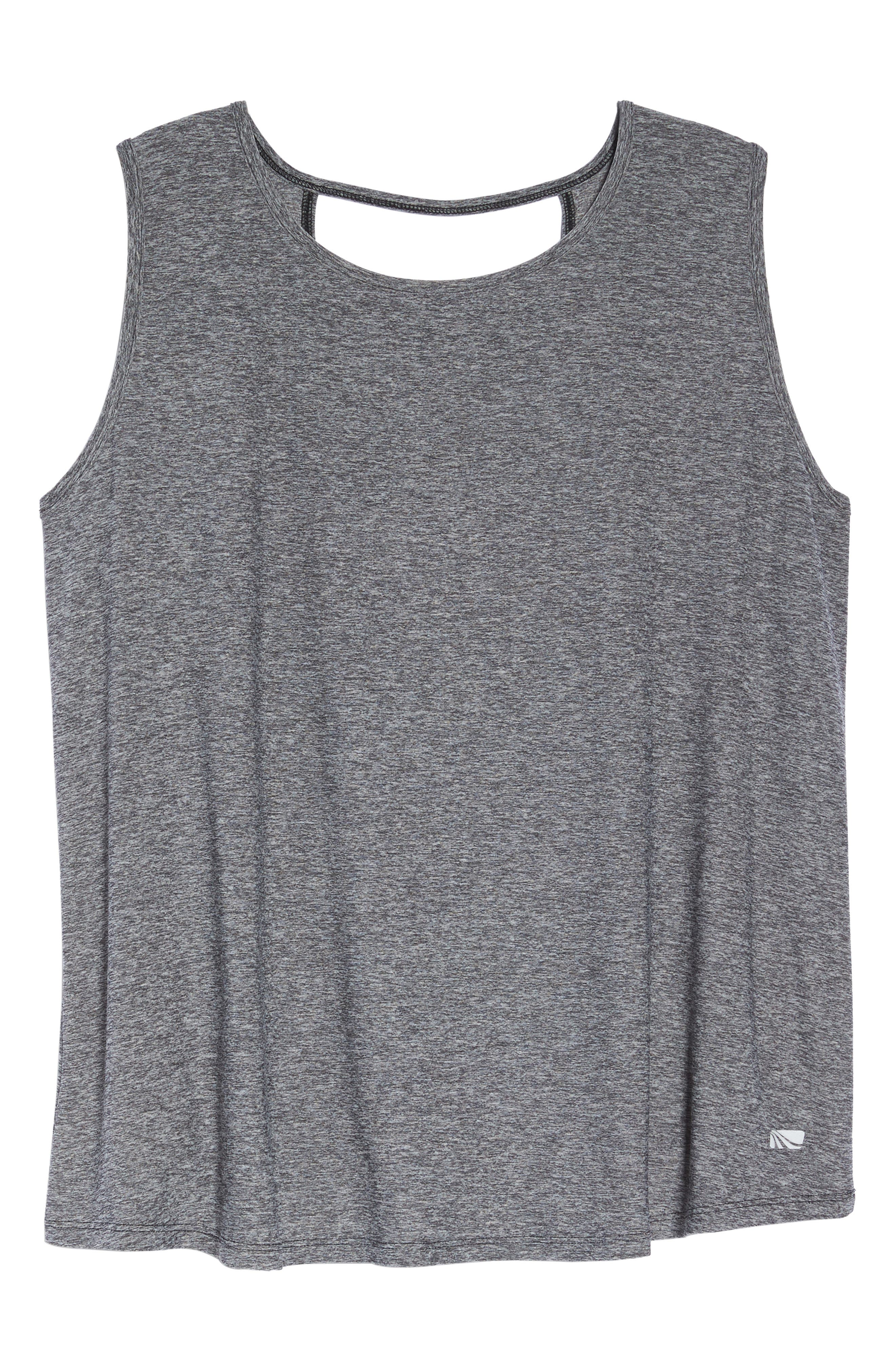 Crossover Tank,                             Alternate thumbnail 6, color,                             Heather Charcoal