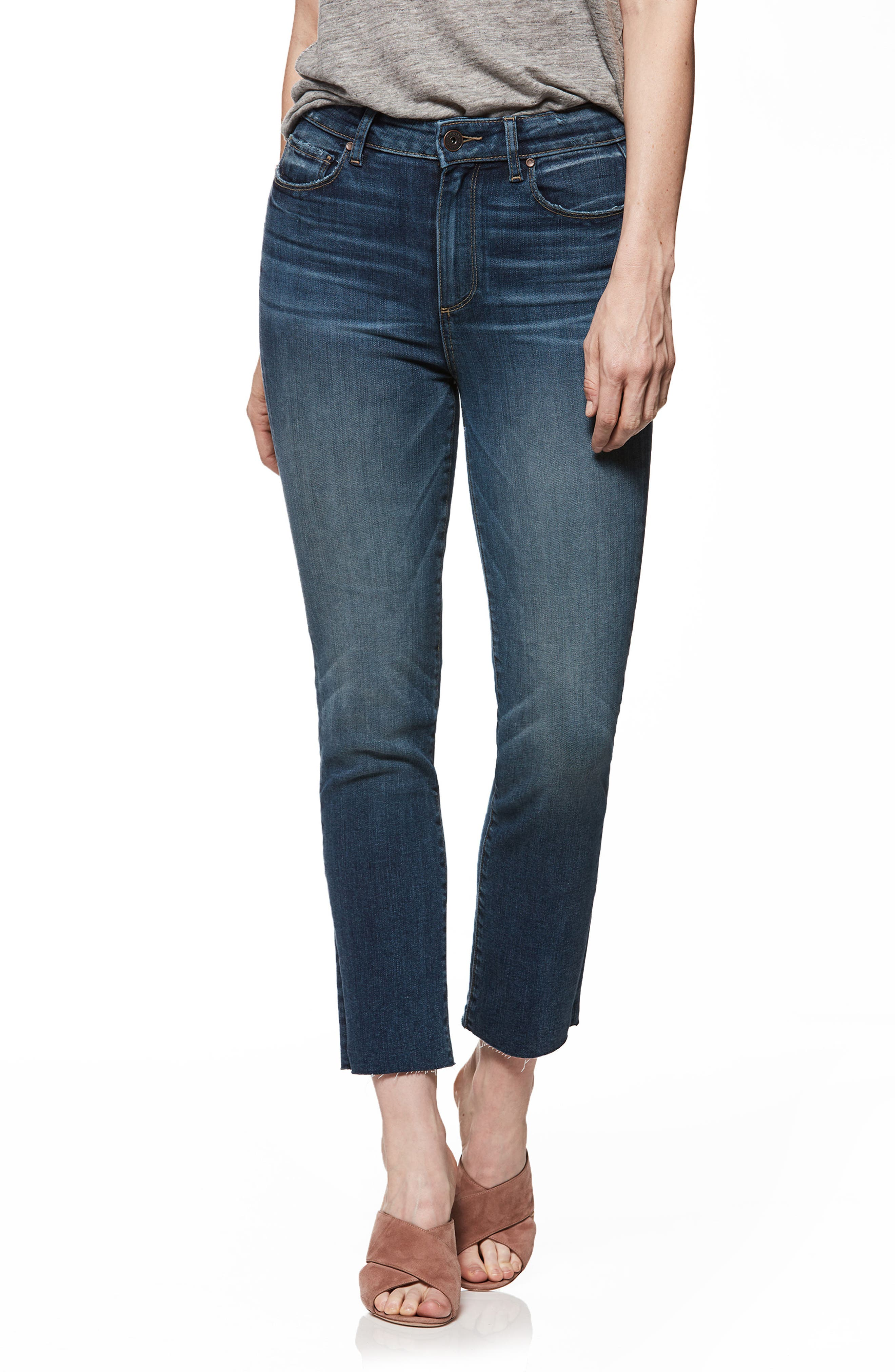 Hoxton High Waist Ankle Straight Leg Jeans,                         Main,                         color, India