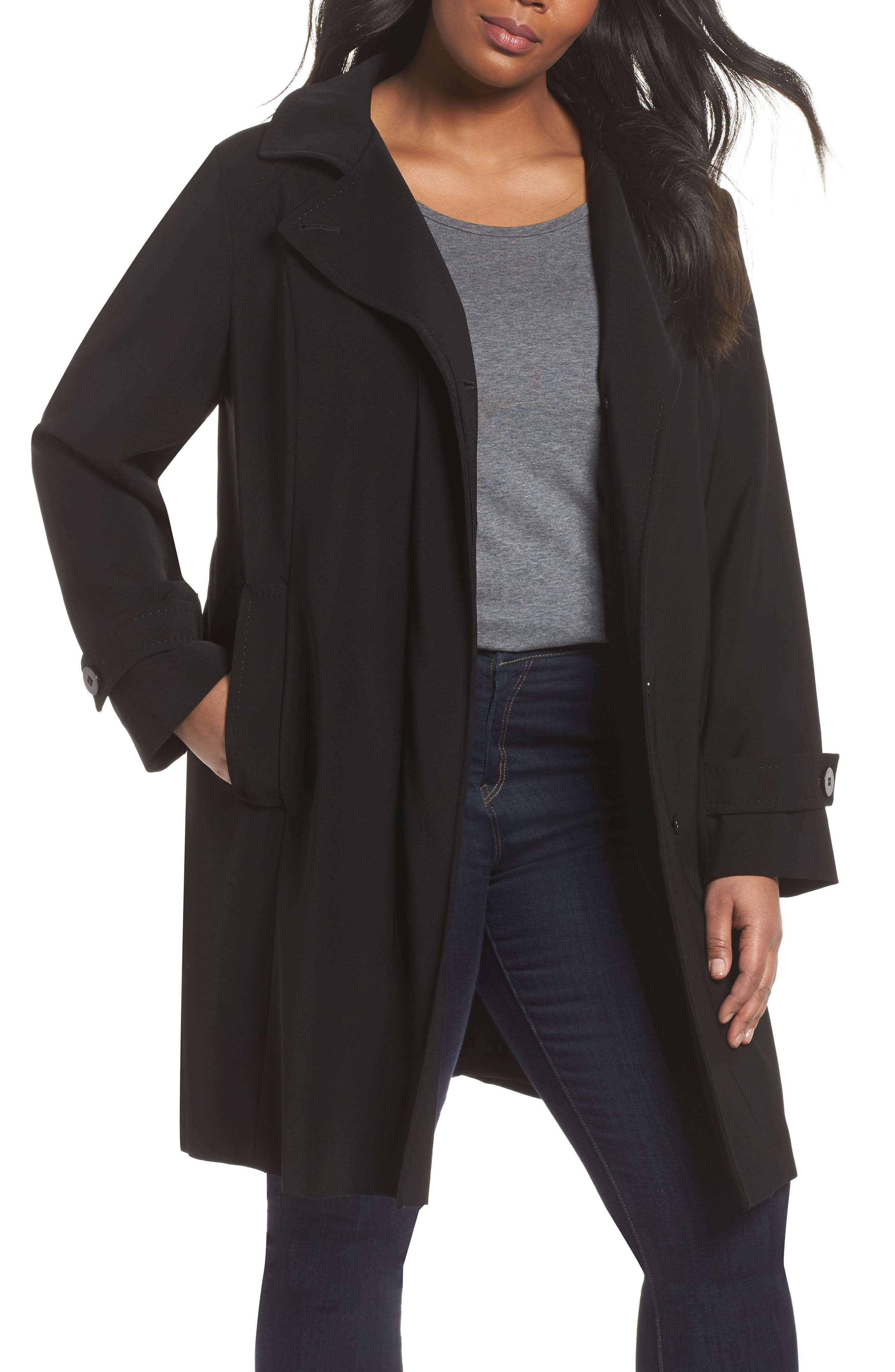 Gallery Hooded Walking Coat (Plus Size)