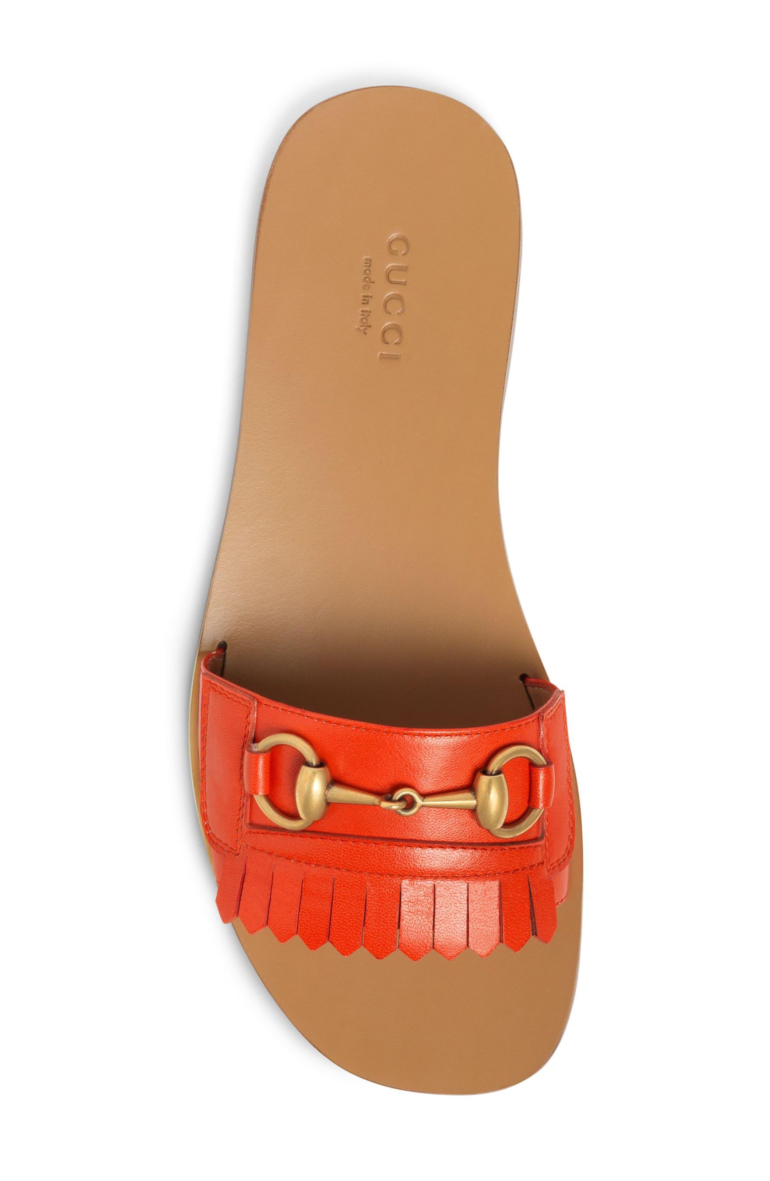 Varadero Slide Sandal,                             Alternate thumbnail 4, color,                             Orange