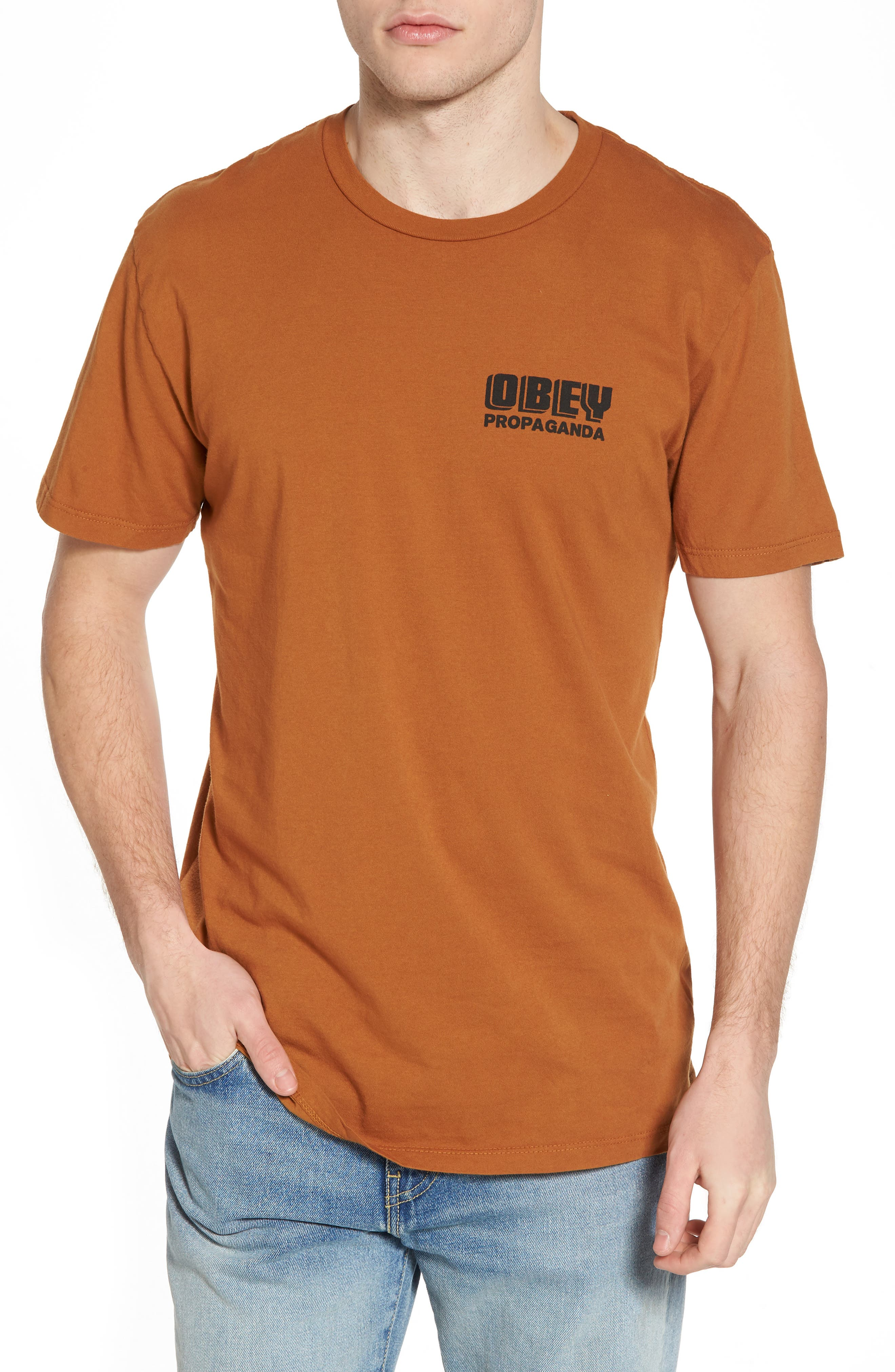 Storefront Superior Graphic T-Shirt,                         Main,                         color, Bombay Brown
