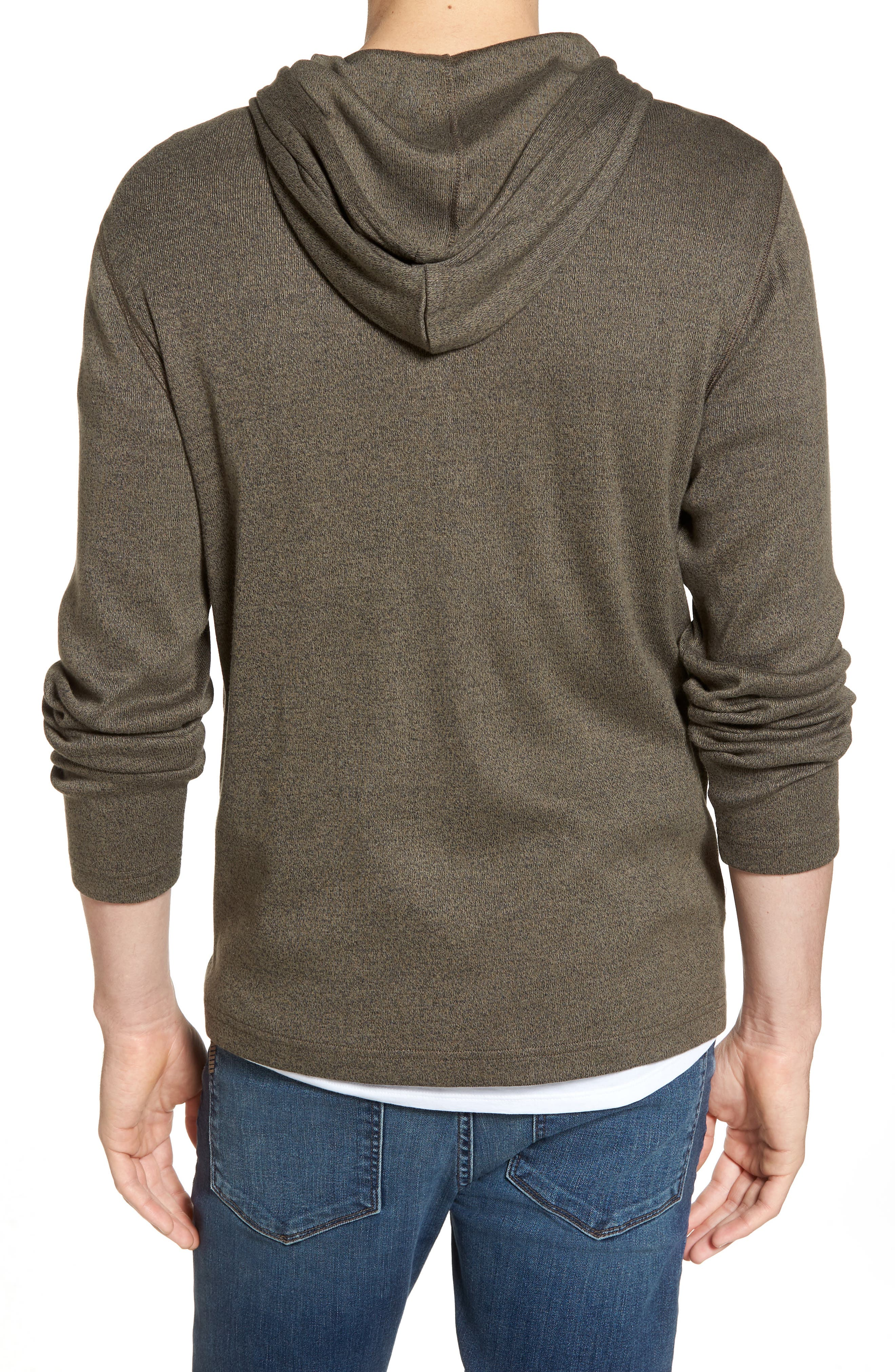 Knit Hooded Pullover,                             Alternate thumbnail 2, color,                             Olive Tarmac Heather