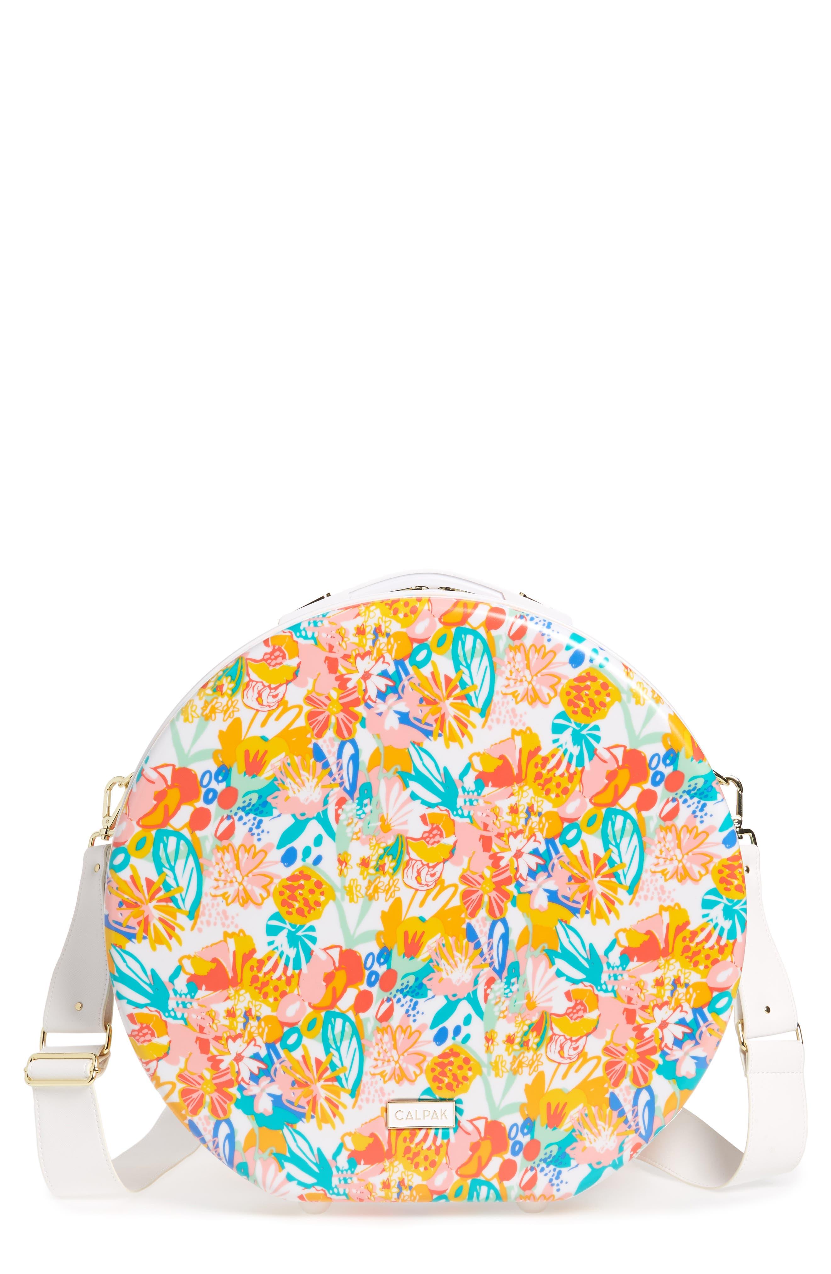 Baye Medium Hardcase Hat Box,                             Main thumbnail 1, color,                             Floral