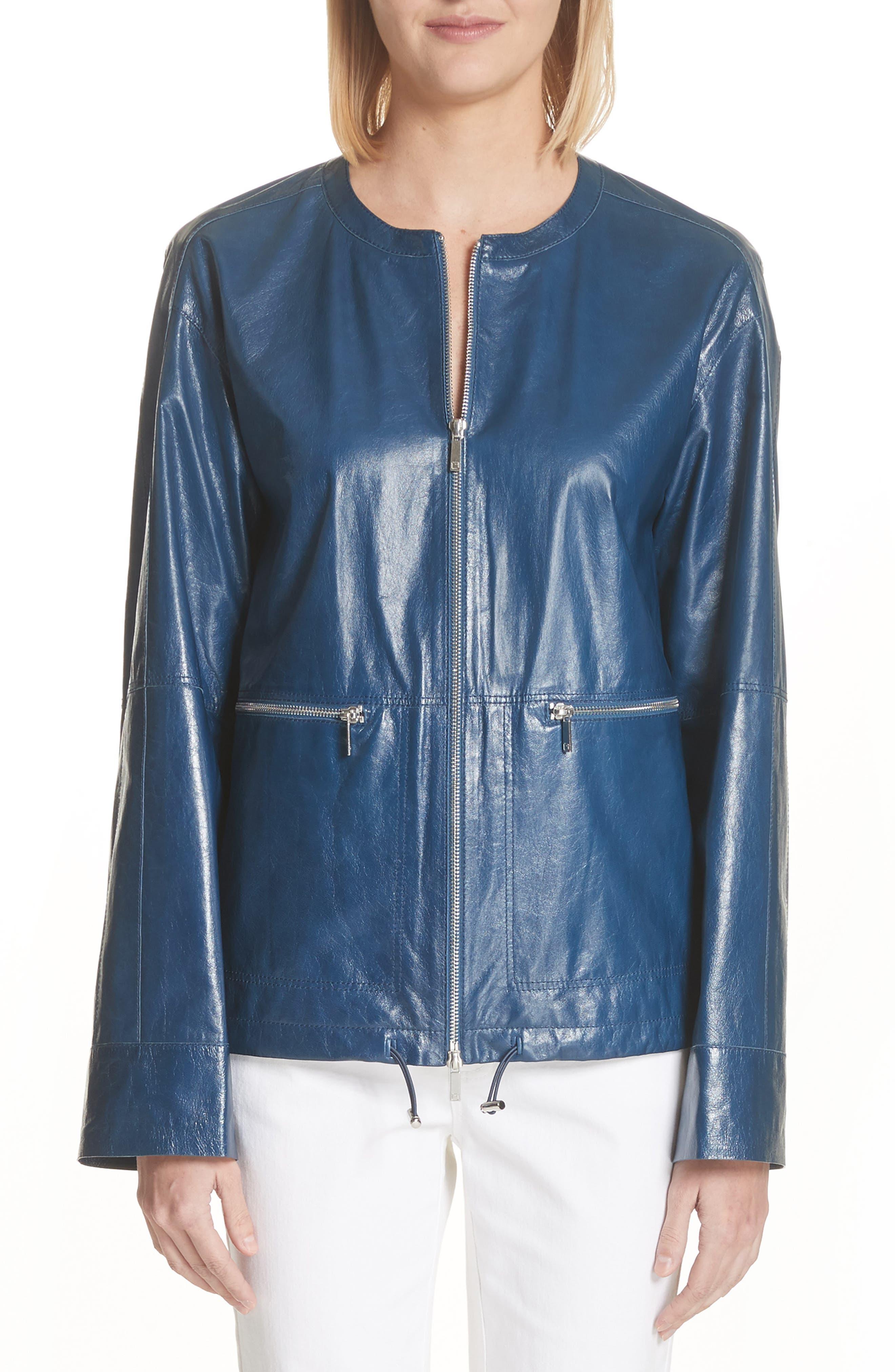 Lafayette 148 New York Fleming Leather Jacket