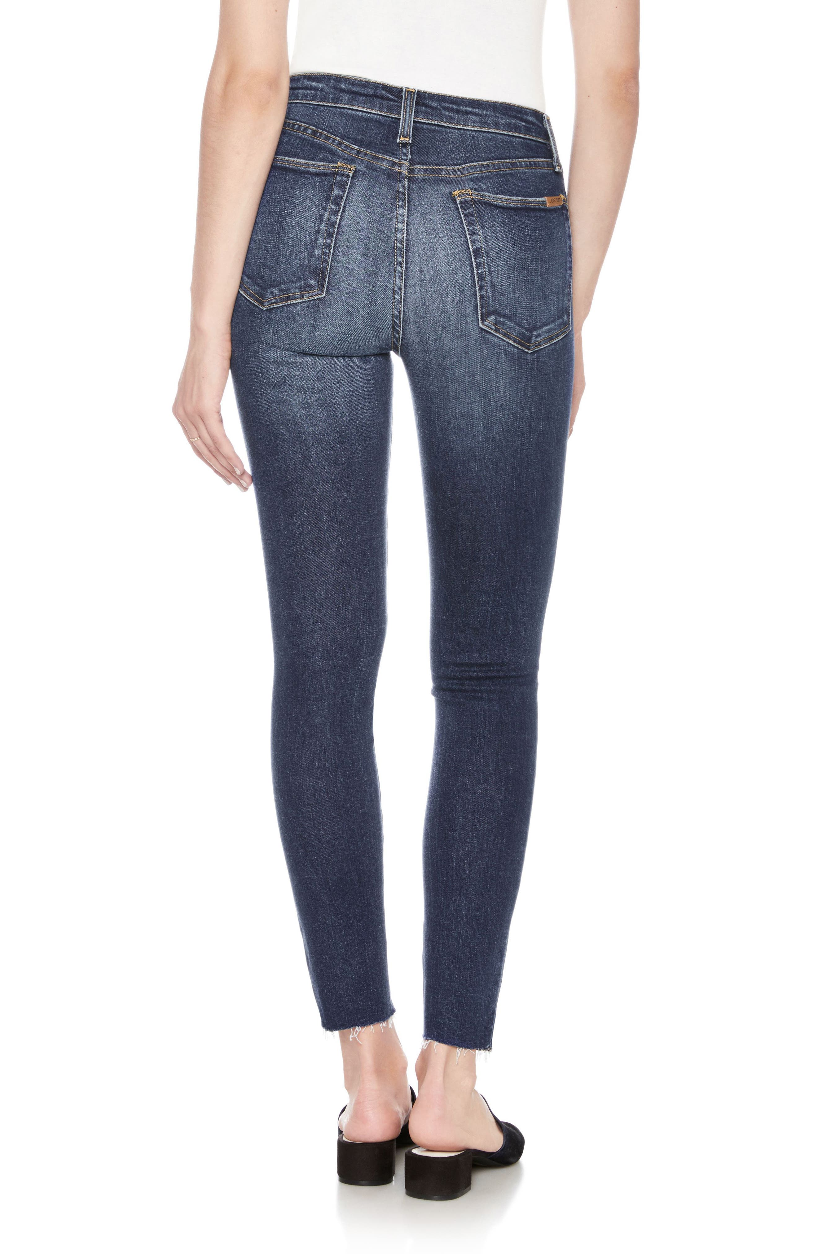 Flawless - Charlie High Waist Ankle Skinny Jeans,                             Alternate thumbnail 2, color,                             Theodora