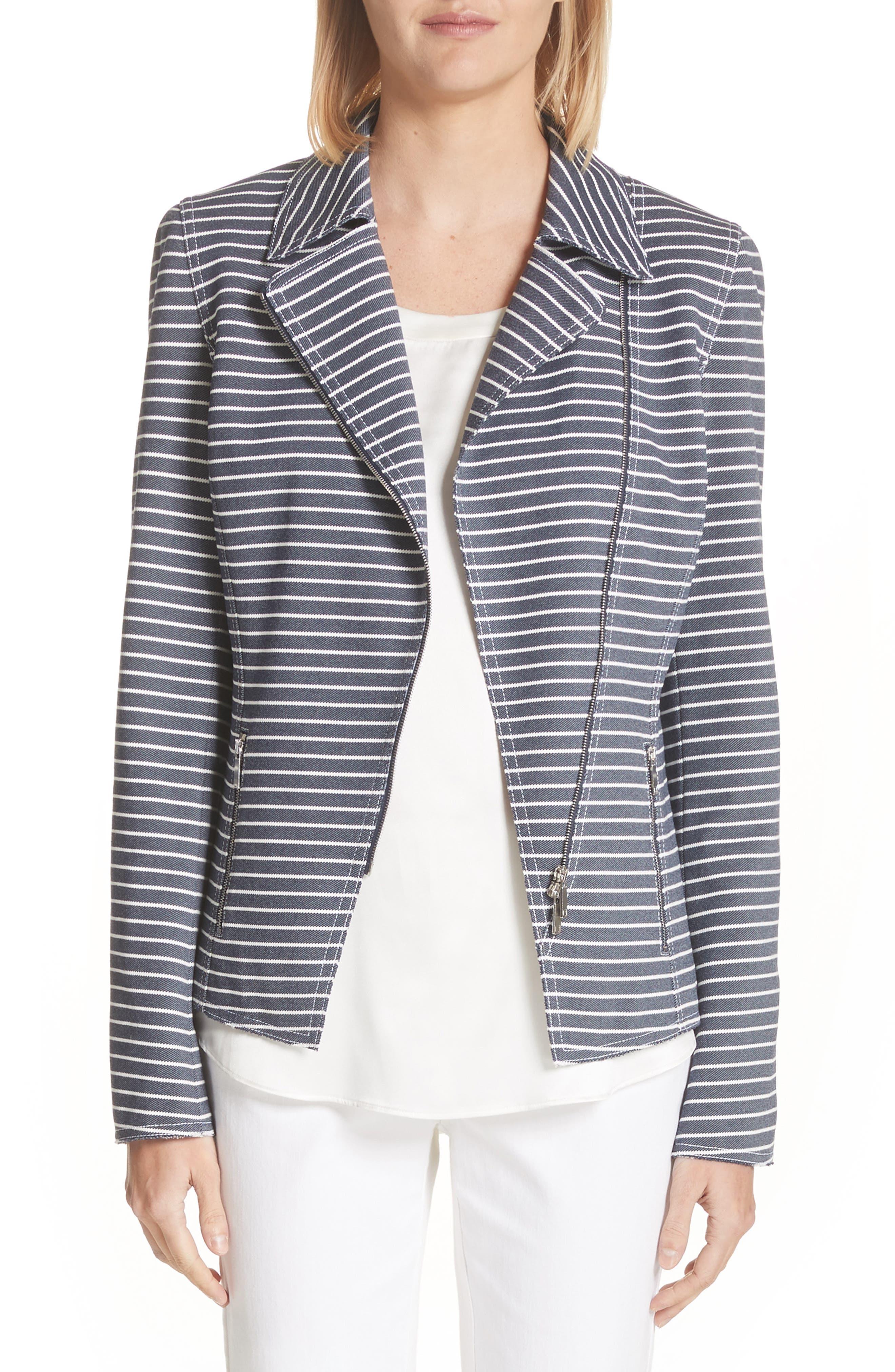 Julius Stripe Denim Twill Jacket,                         Main,                         color, Indigo Multi