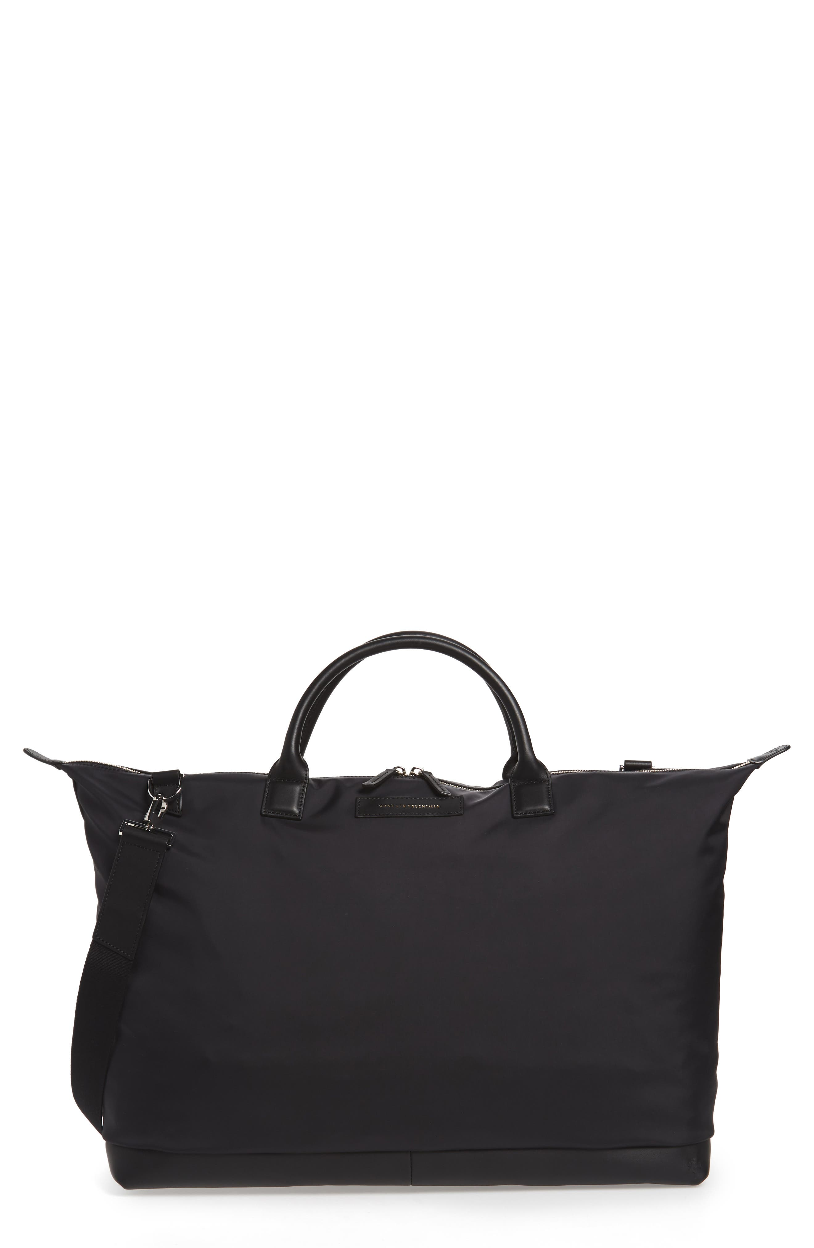 Hartsfield Nylon Tote Bag,                             Main thumbnail 1, color,                             Black Nylon