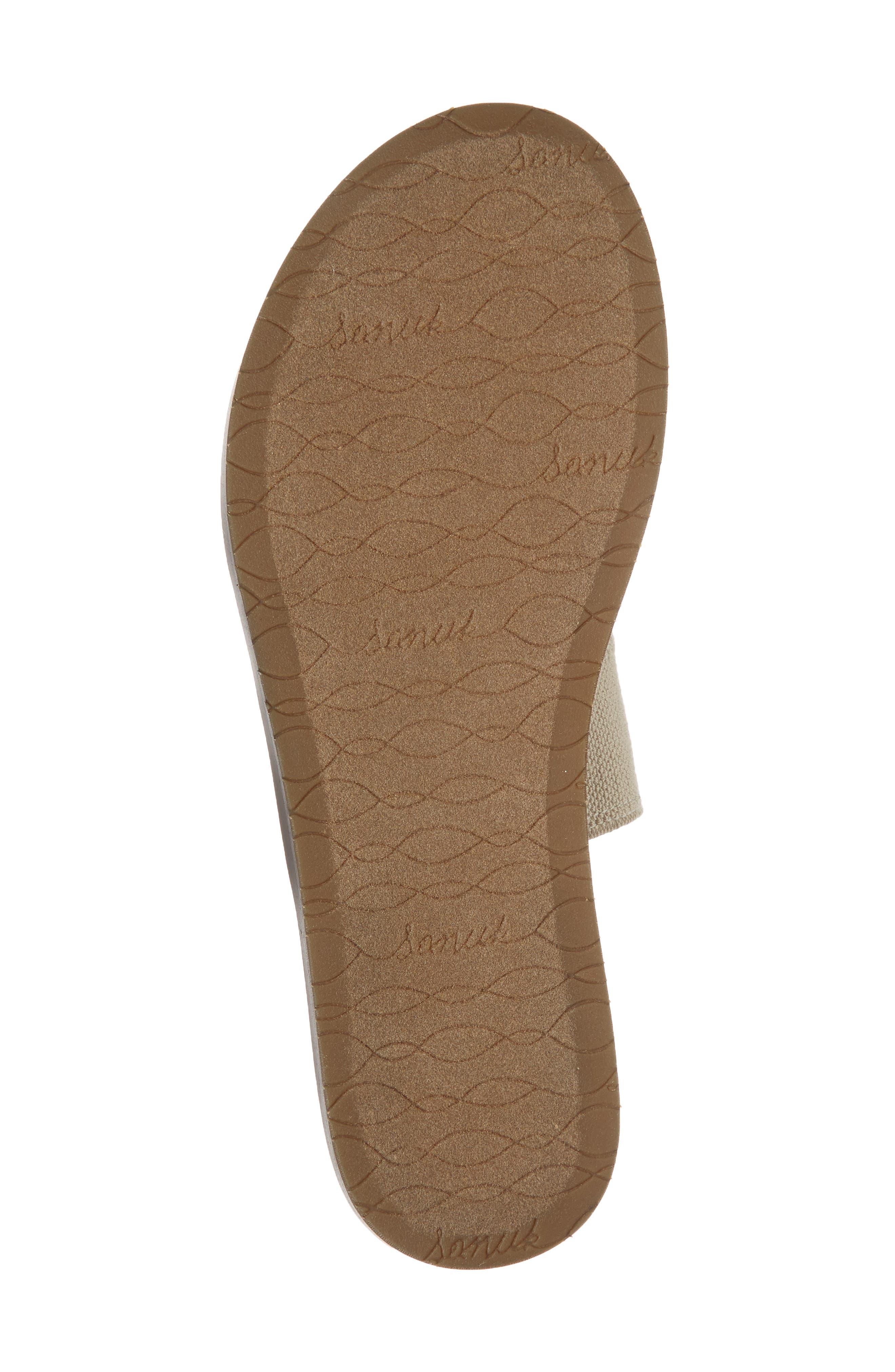 'Yoga Gora Gora' Slide Sandal,                             Alternate thumbnail 6, color,                             Natural