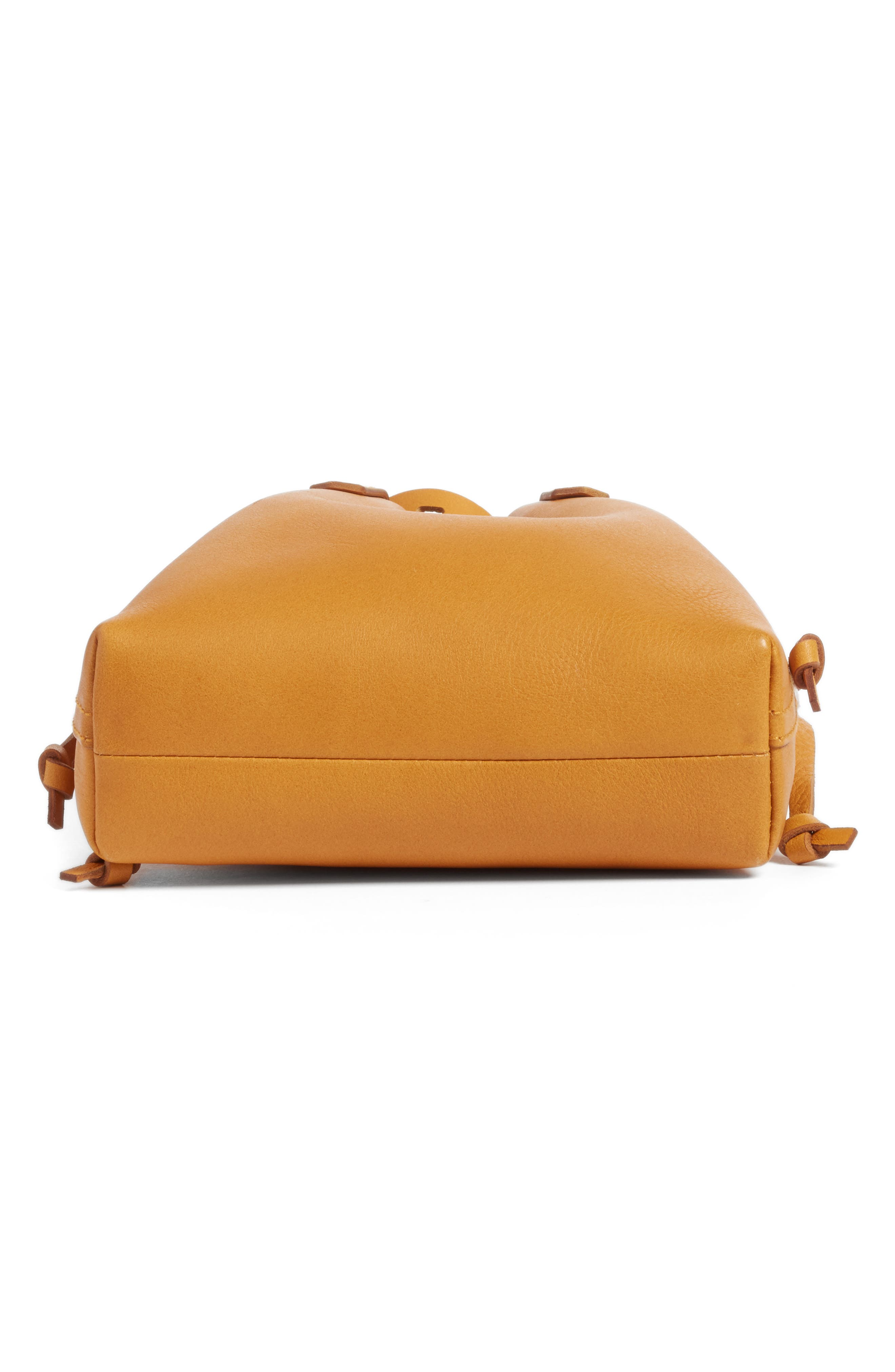 Alternate Image 5  - Madewell The Mini Pocket Transport Leather Drawstring Tote