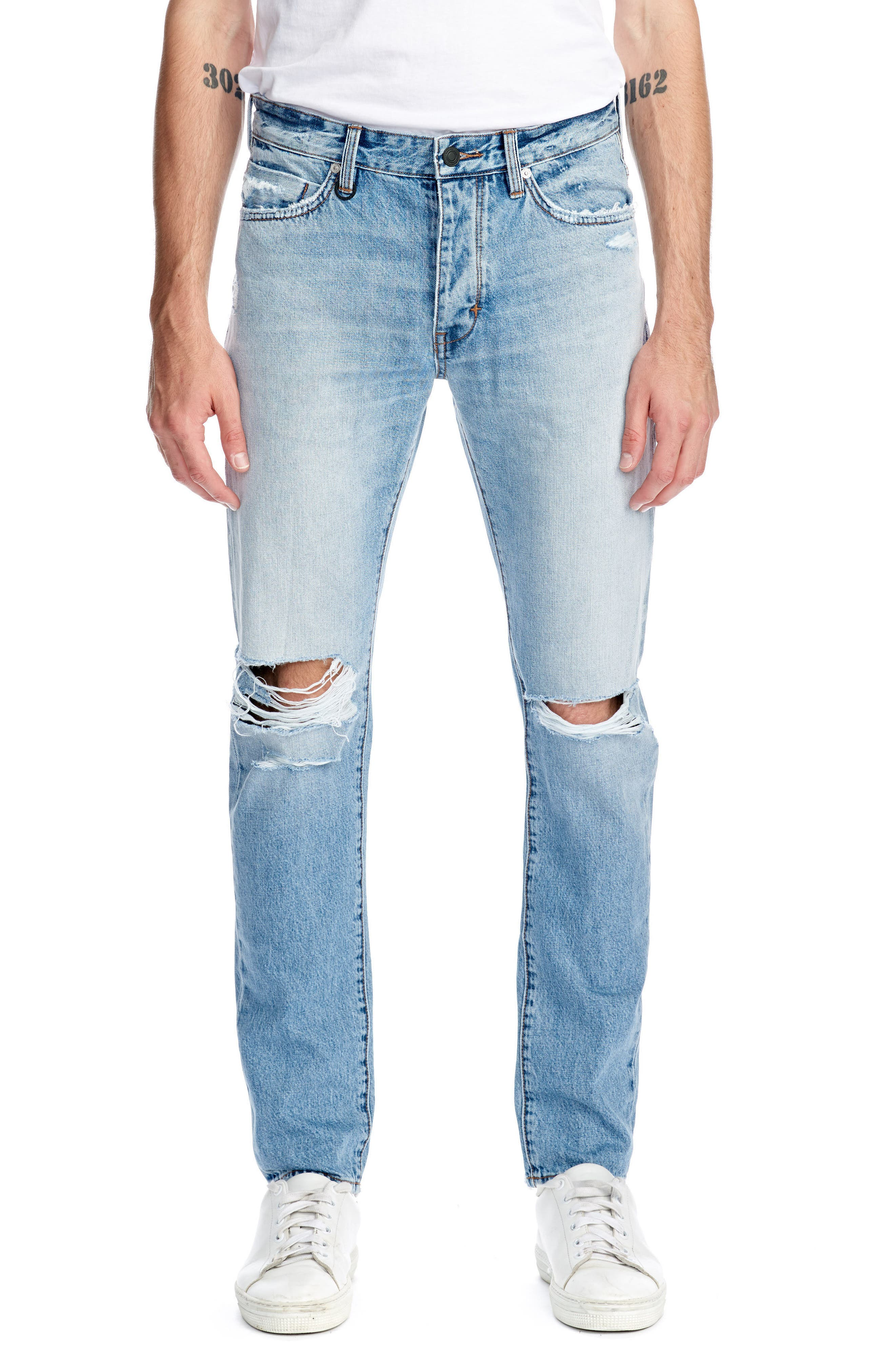 NEWU Lou Slim Fit Jeans,                             Main thumbnail 1, color,                             Stockholm Broken