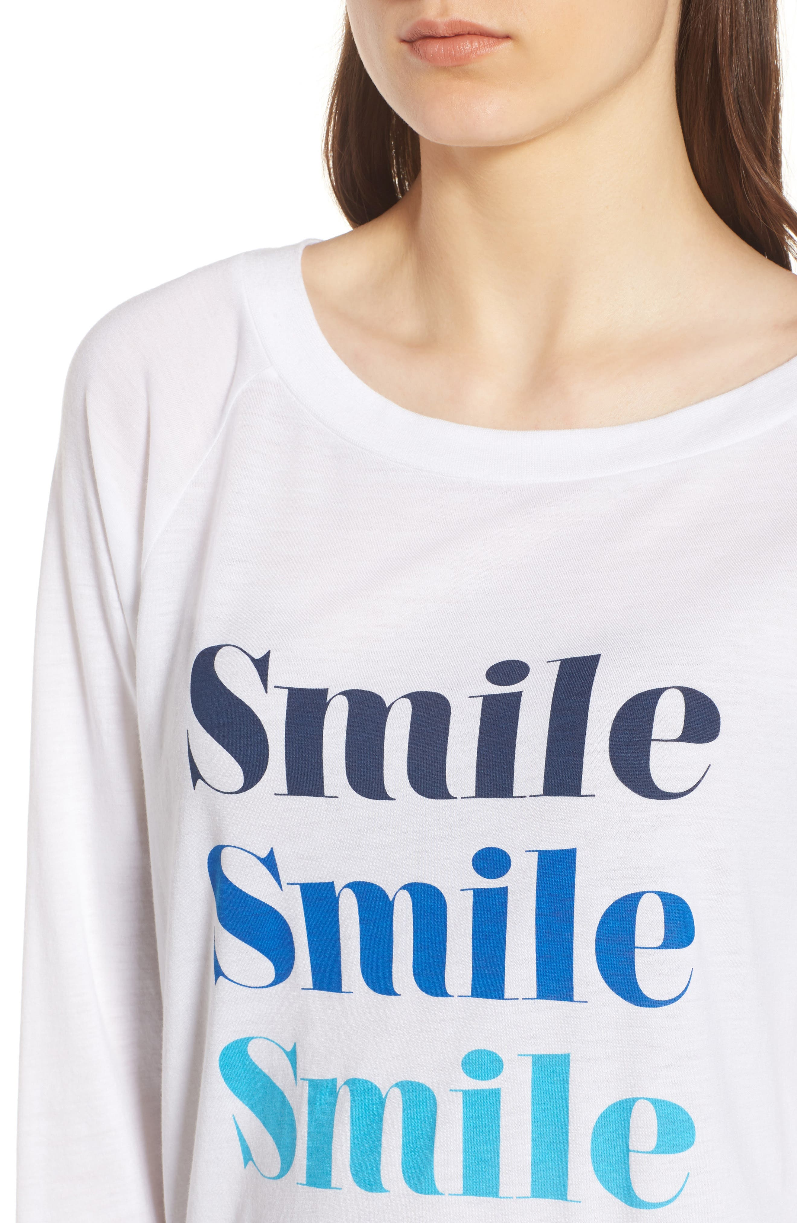 Candy - Smile Smile Pullover,                             Alternate thumbnail 4, color,                             White