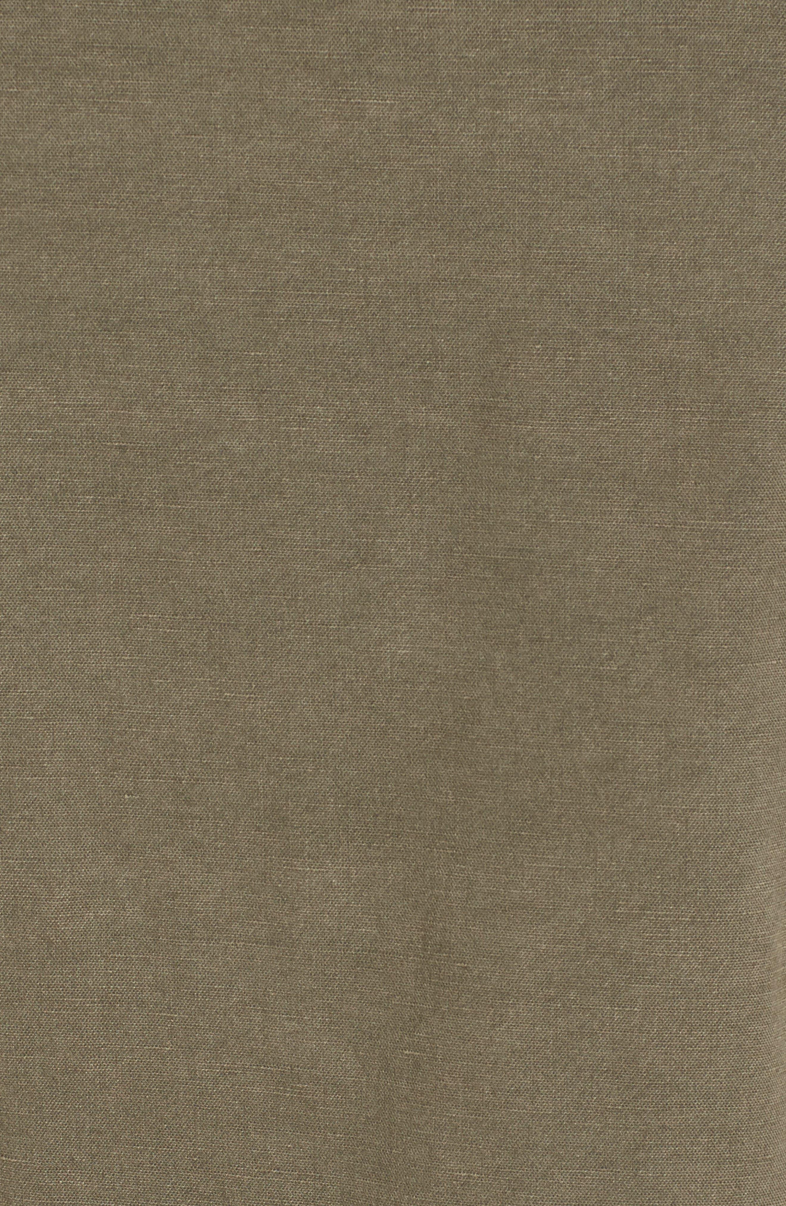 Peplum Utility Jacket,                             Alternate thumbnail 5, color,                             Olive