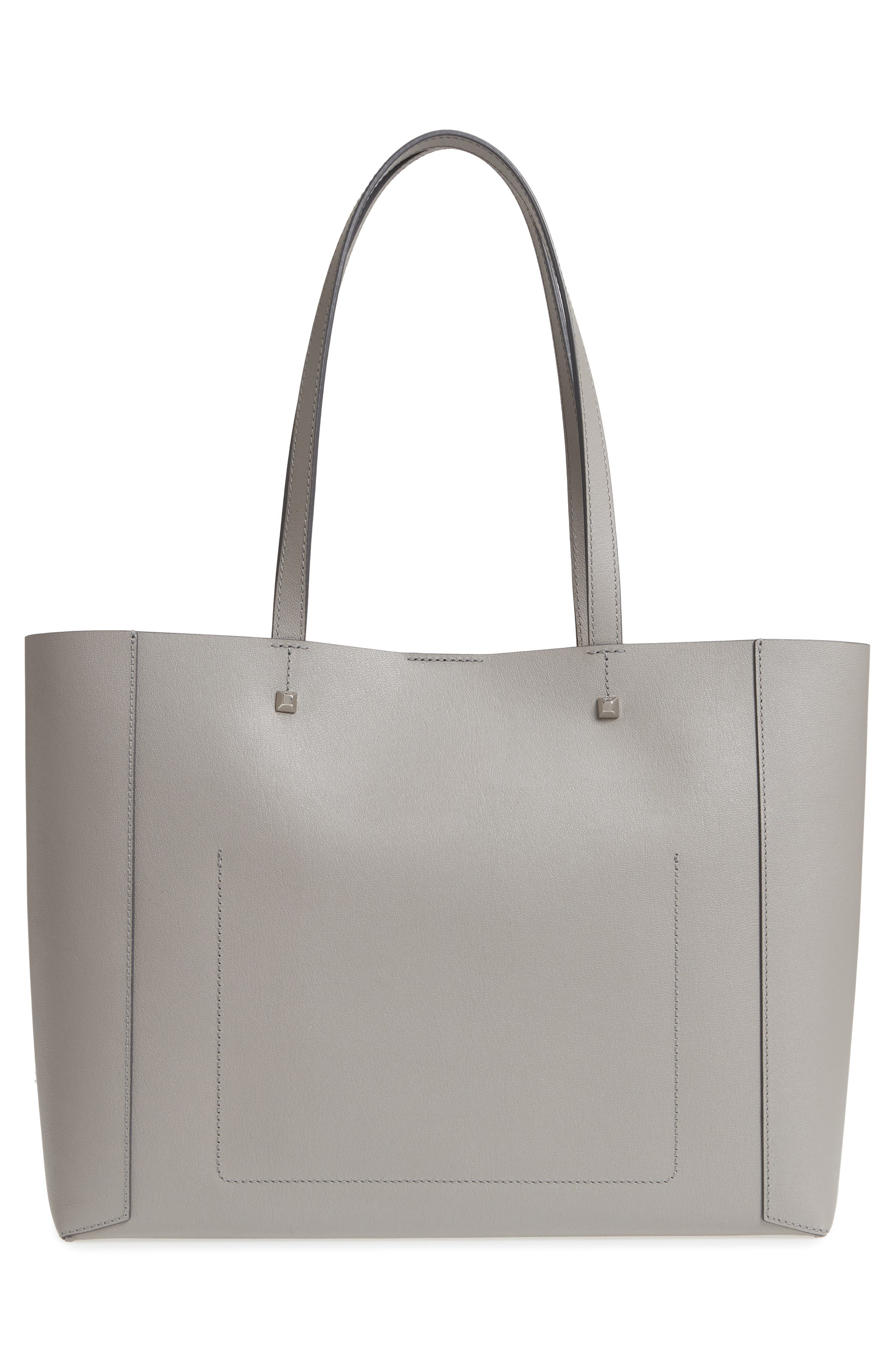 Ilse East/West Leather Shopper,                             Alternate thumbnail 3, color,                             Arch Grey