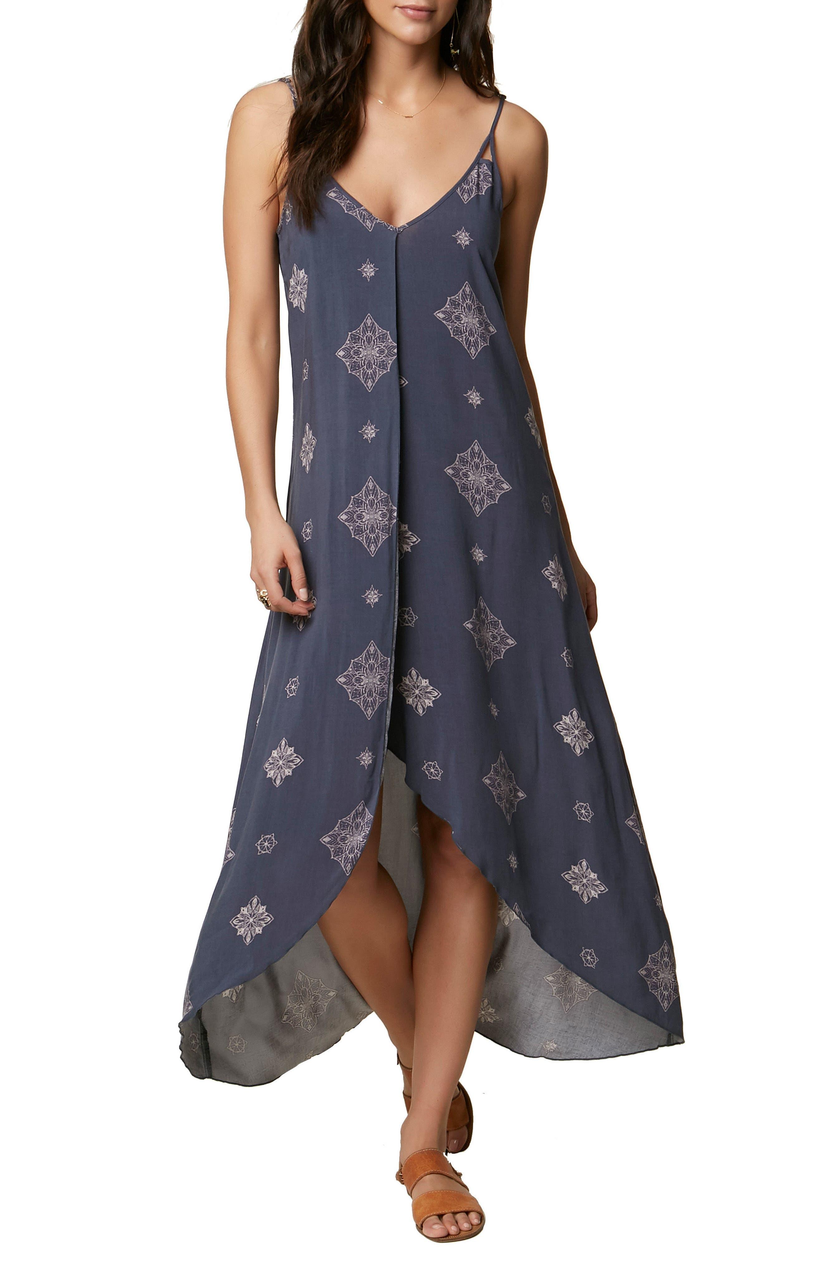 Joslyn Split Front Dress,                         Main,                         color, Baltic Blue