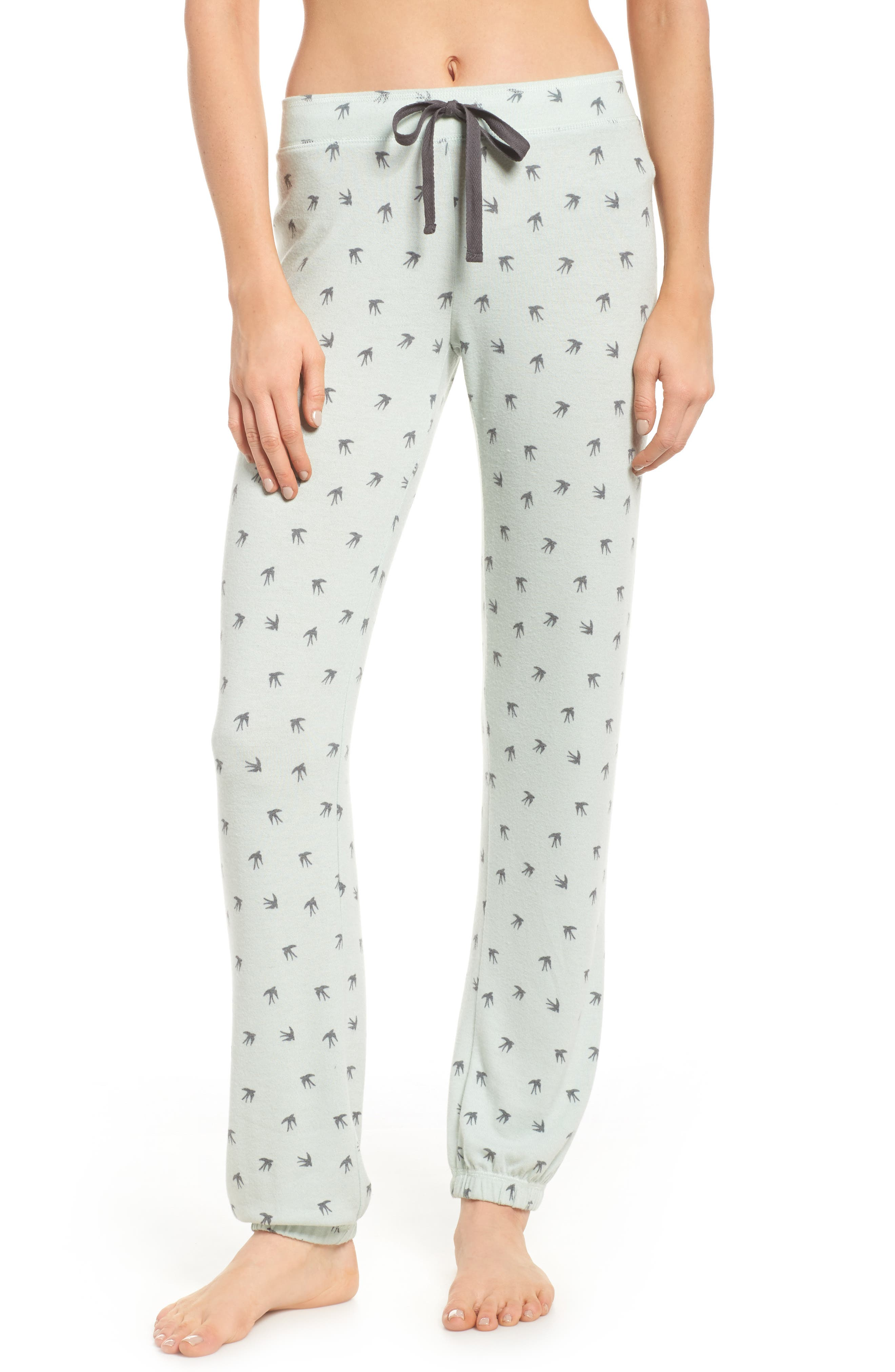 Peachy Pajama Pants,                             Main thumbnail 1, color,                             Seafoam