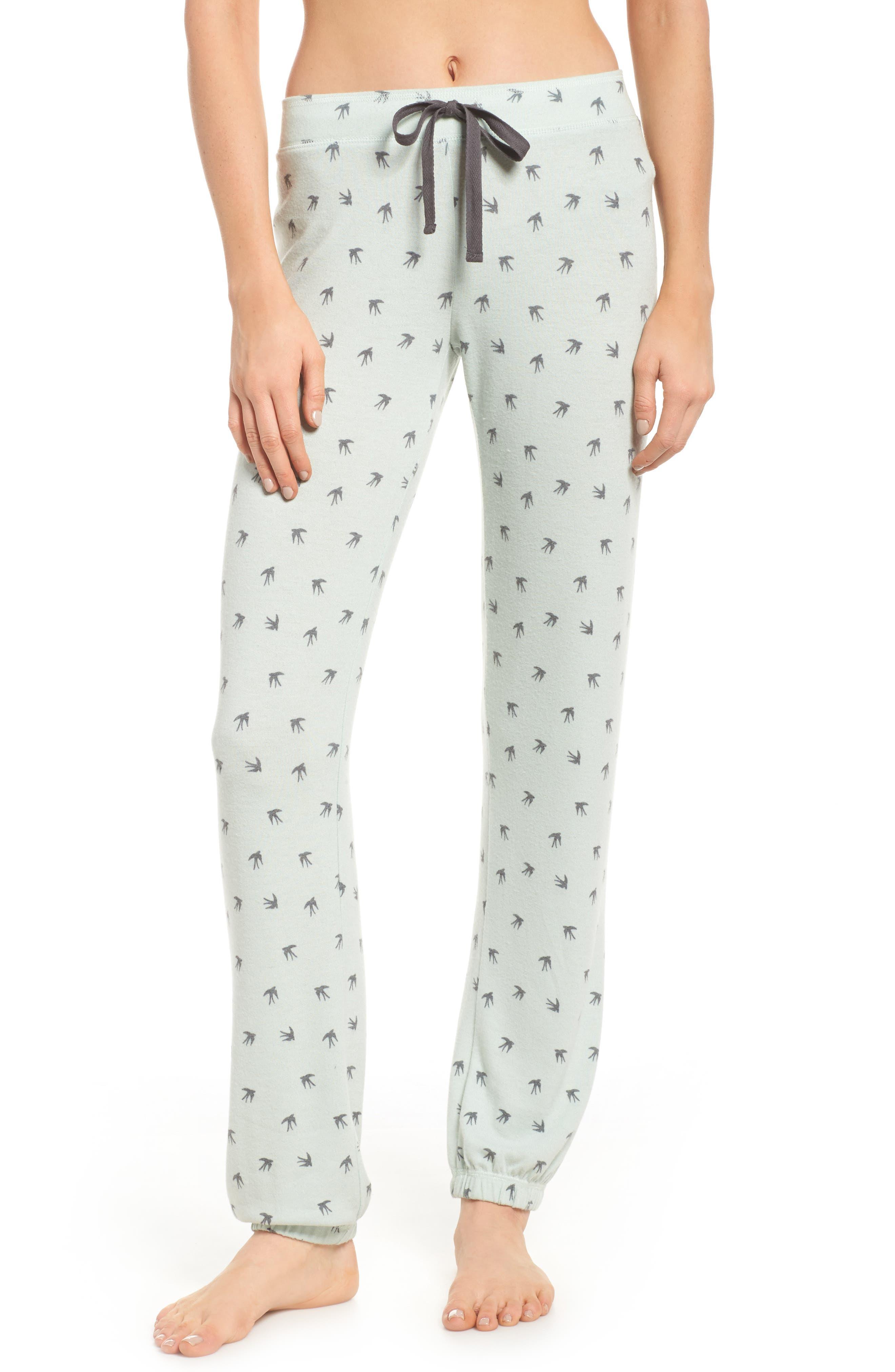 Peachy Pajama Pants,                         Main,                         color, Seafoam
