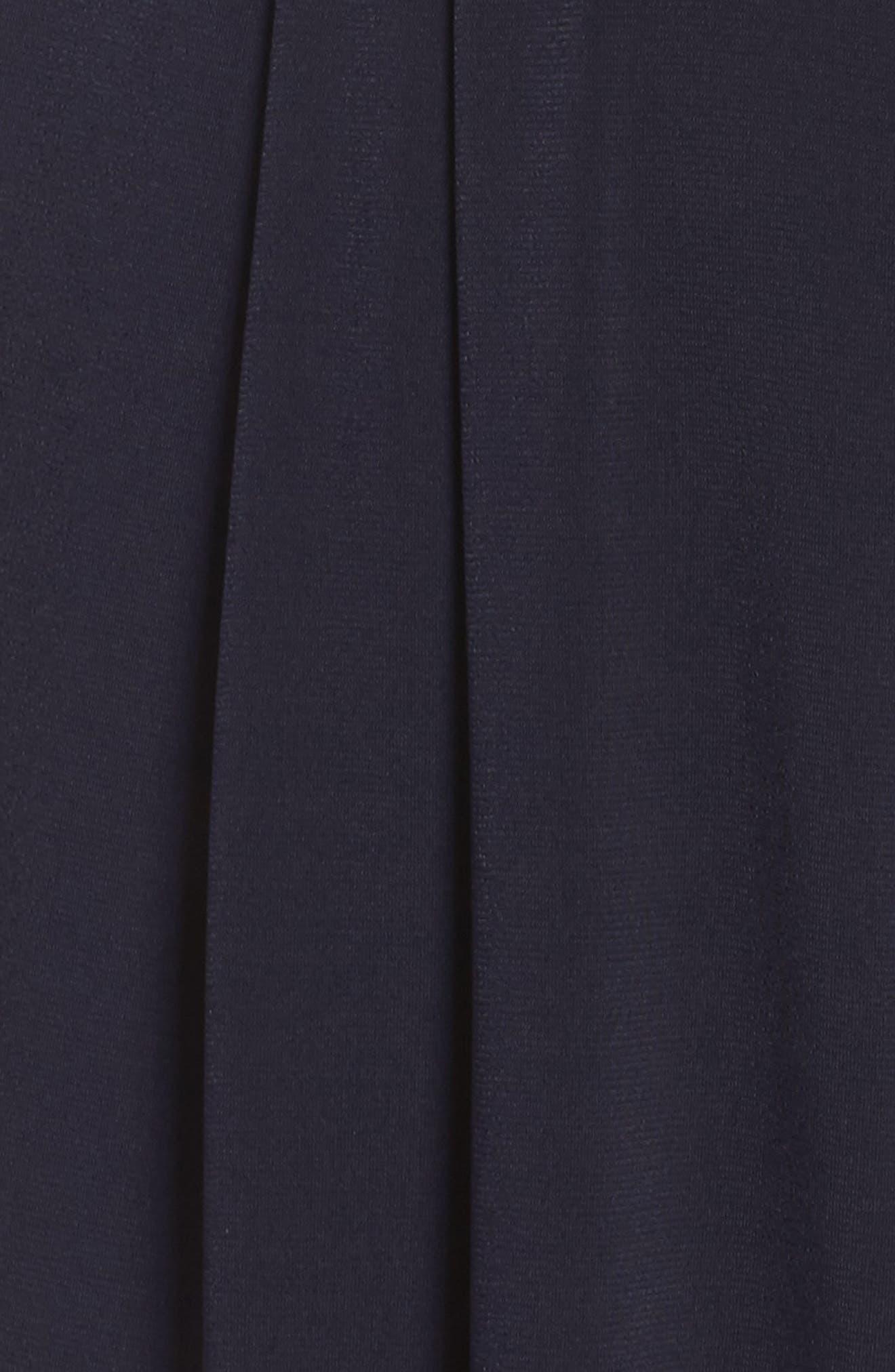 Wide Leg Jumpsuit,                             Alternate thumbnail 5, color,                             Navy