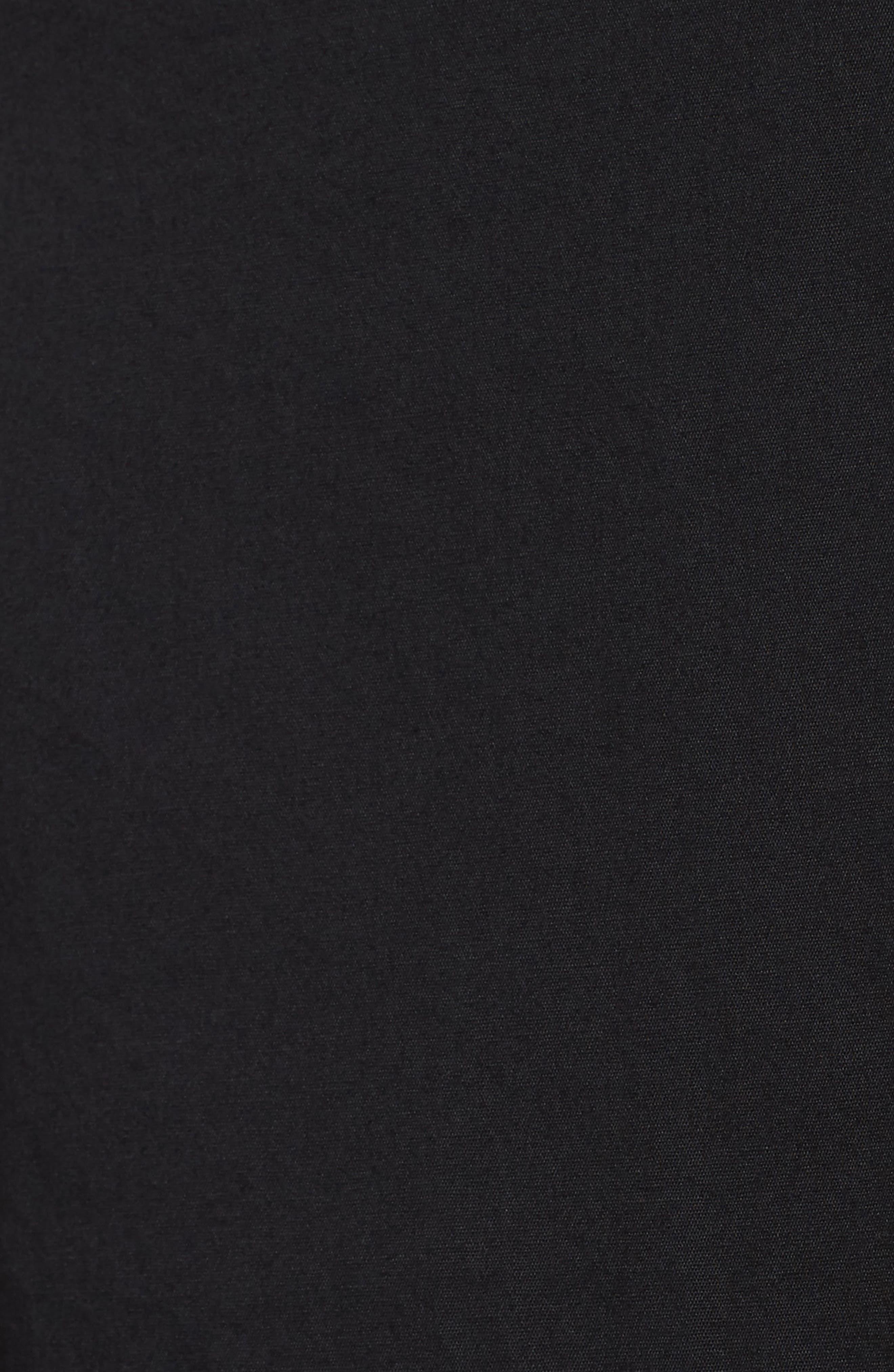 Stretch Organic Cotton Tank Dress,                             Alternate thumbnail 5, color,                             Black